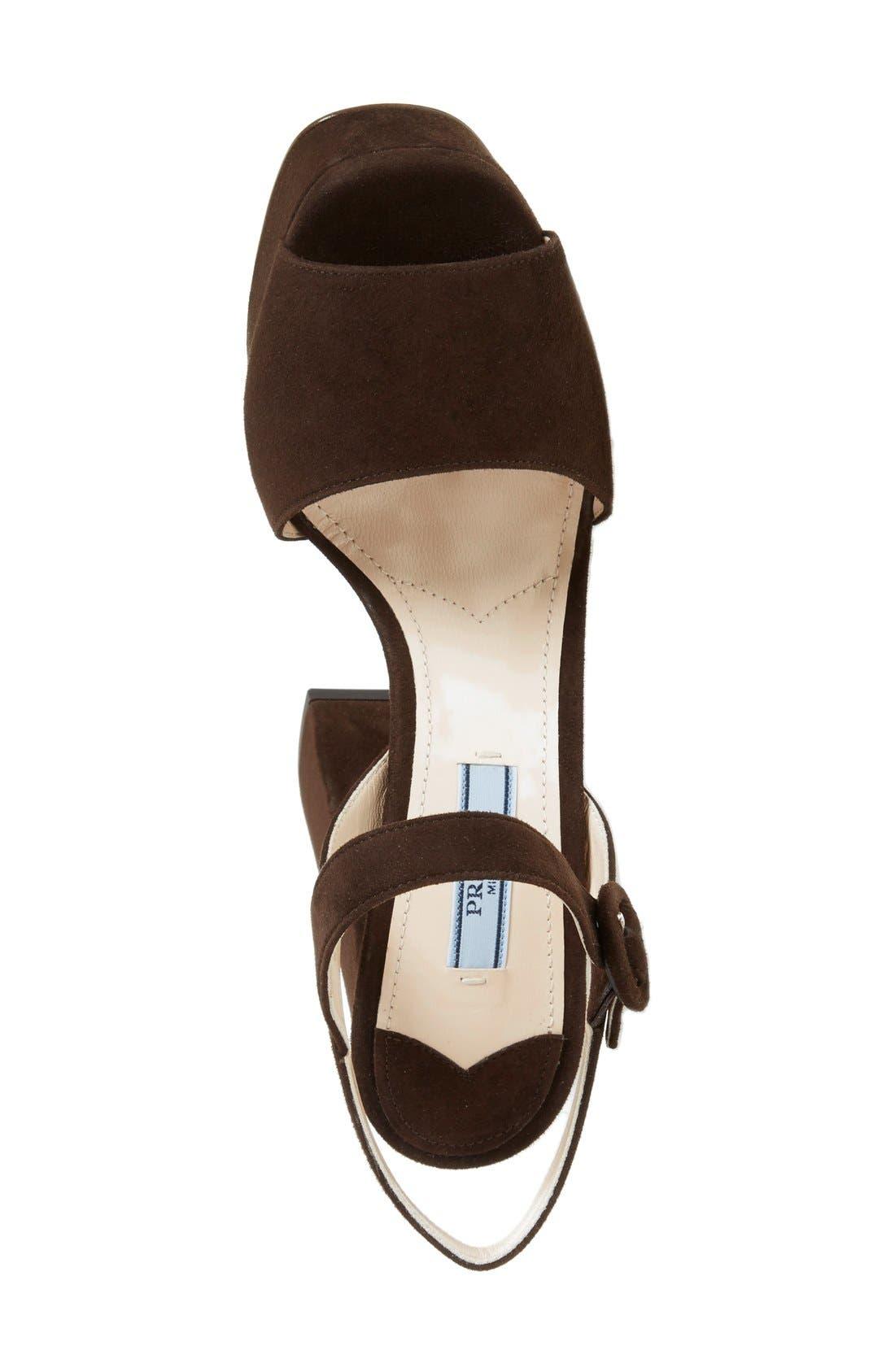 Block Heel Platform Sandal,                             Alternate thumbnail 6, color,