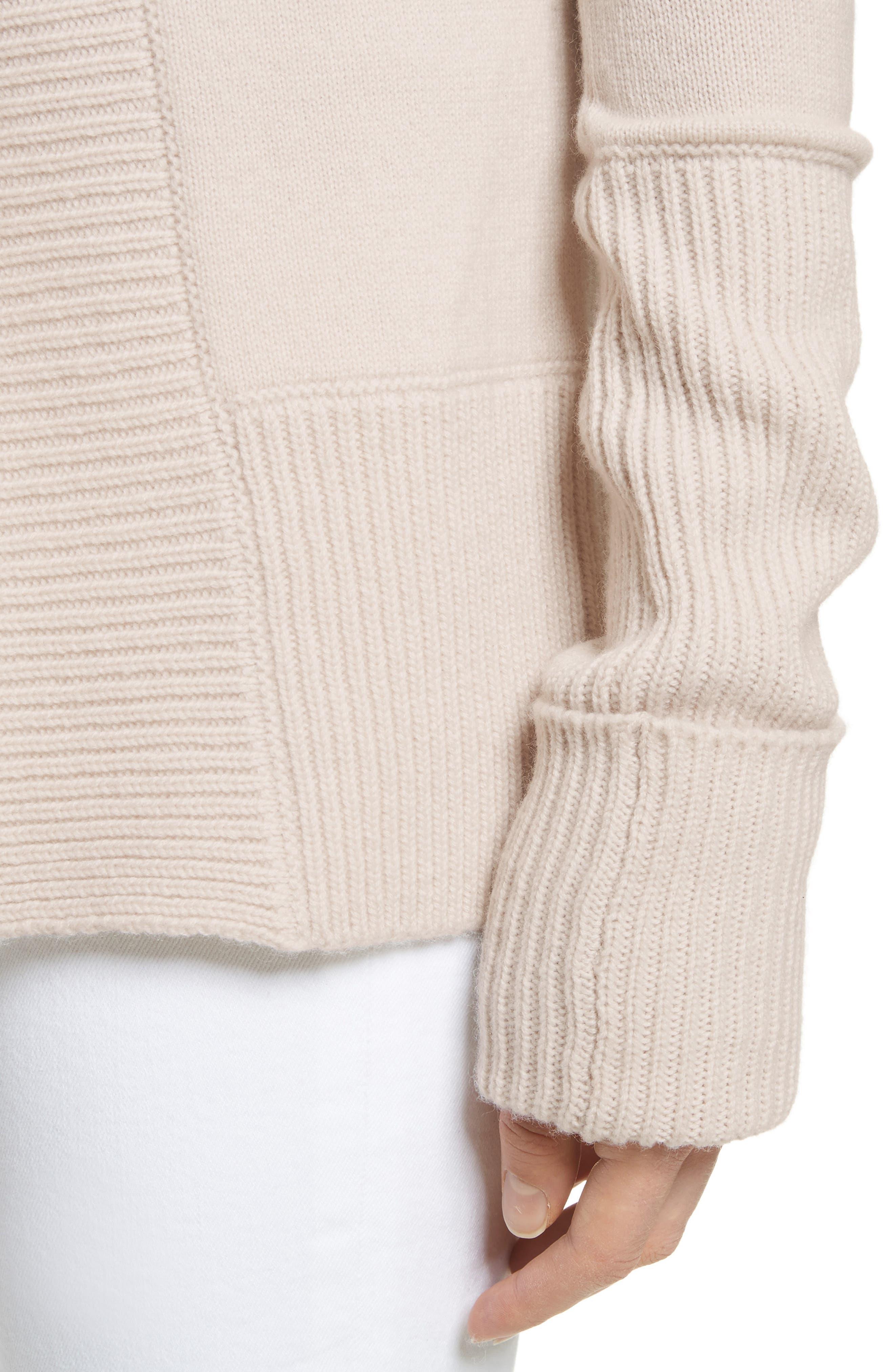 Wide Collar Cashmere Cardigan,                             Alternate thumbnail 11, color,