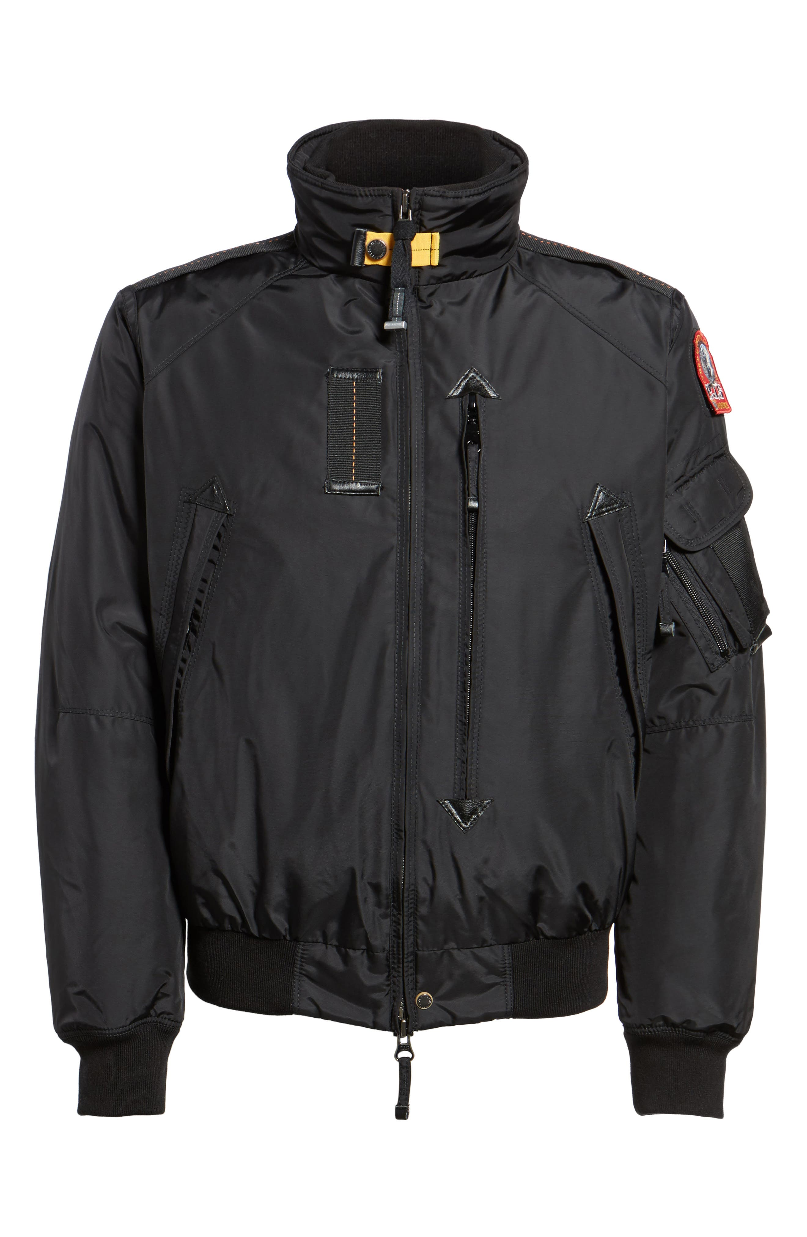 Masterpiece Slim Fit Midweight Down Bomber Jacket,                             Alternate thumbnail 5, color,                             001