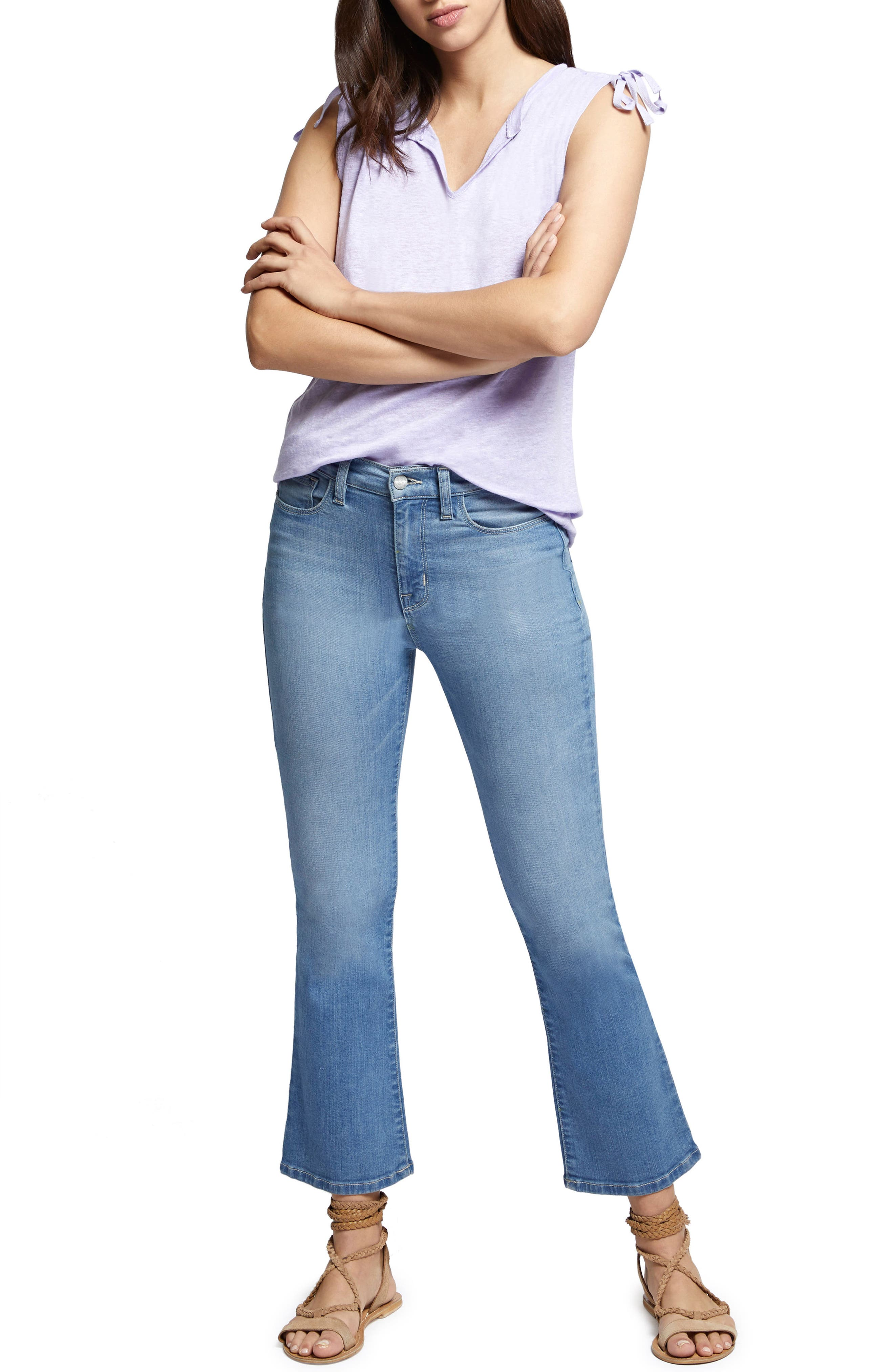 Robbie Crop Flare Jeans,                             Alternate thumbnail 9, color,