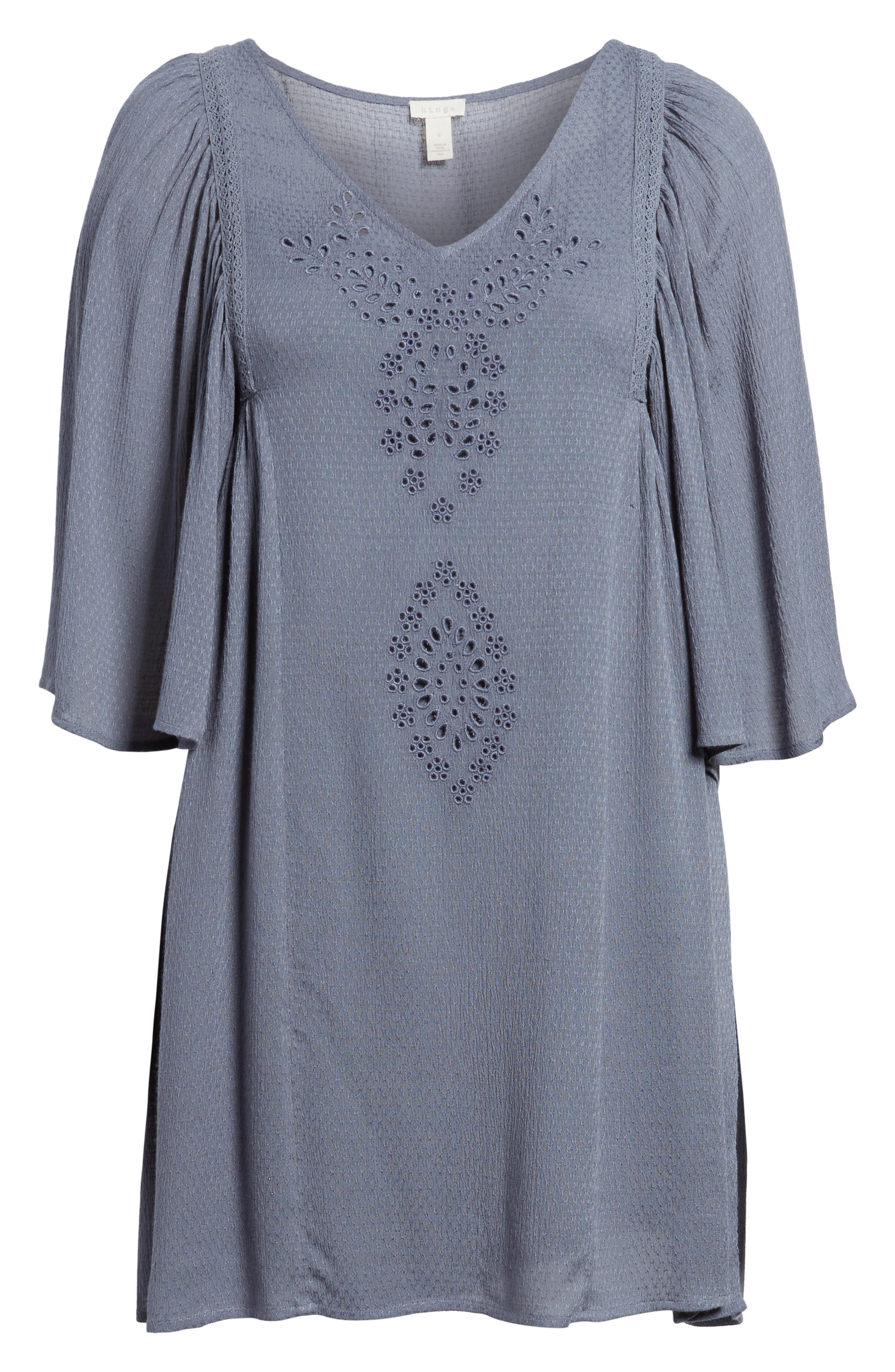 Embroidered Dress,                             Alternate thumbnail 7, color,                             020