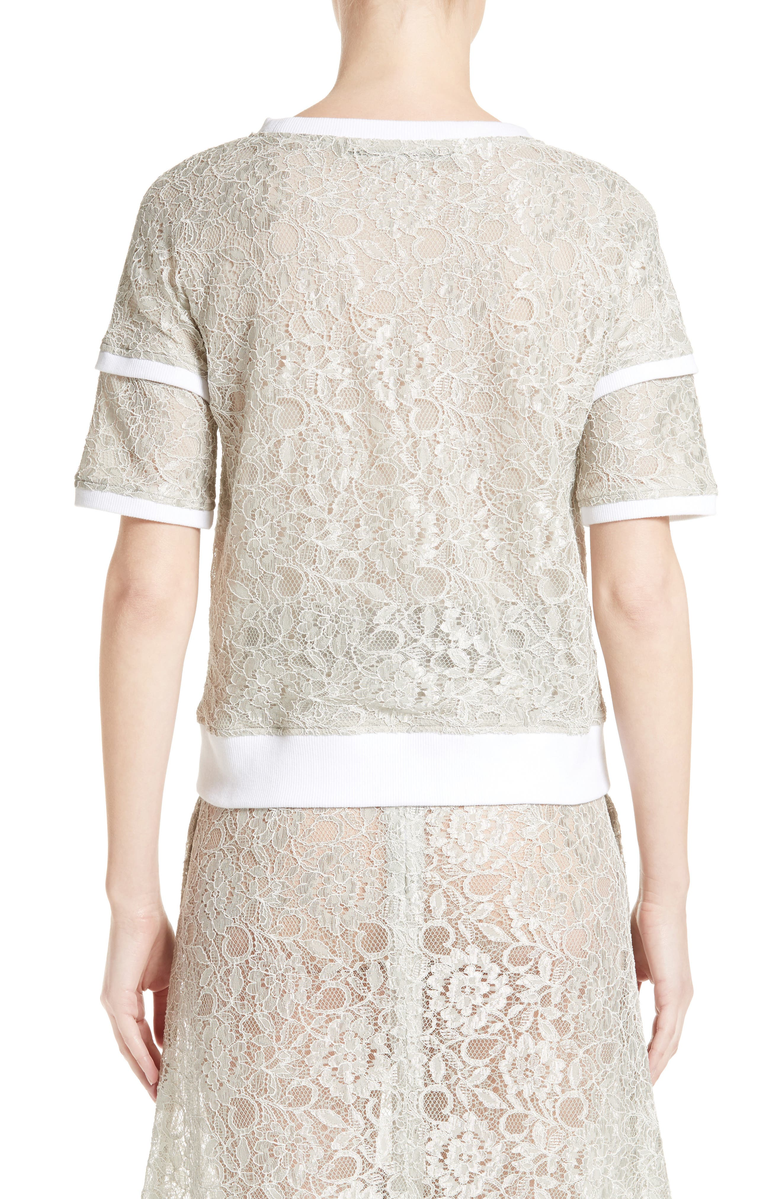 Why Lace Tee,                             Alternate thumbnail 2, color,