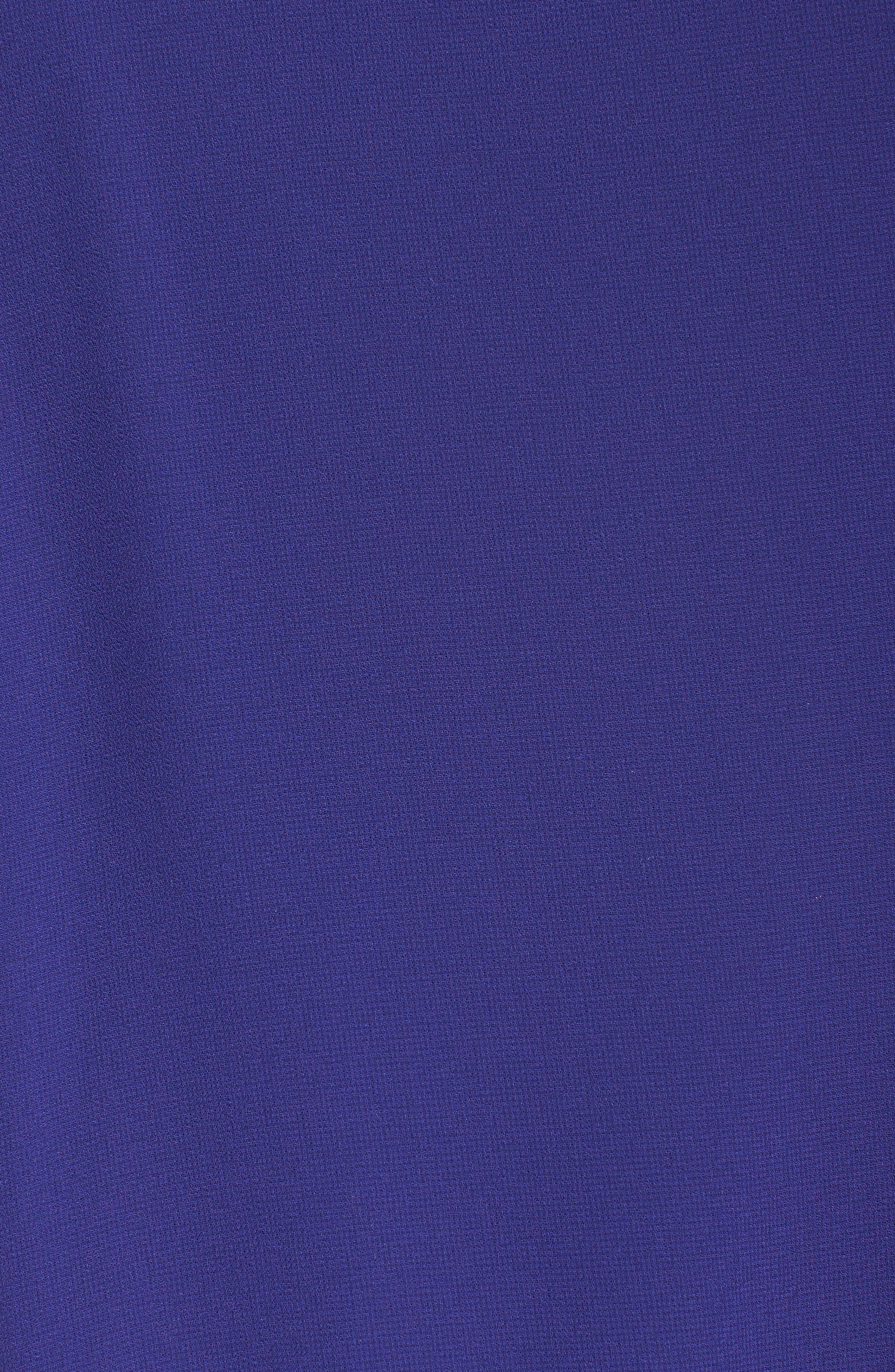 Mock Neck Chiffon Trapeze Dress,                             Alternate thumbnail 29, color,