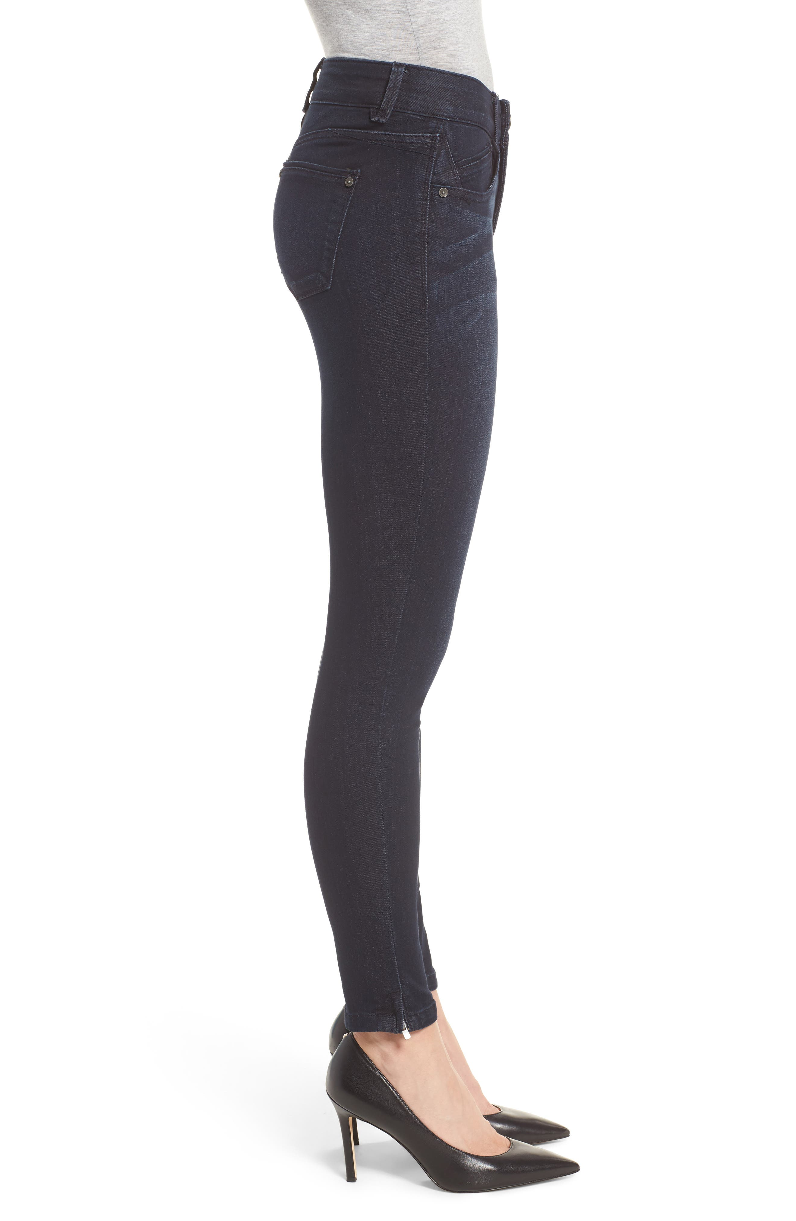 Ab-solution Ankle Zip Skinny Jeans,                             Alternate thumbnail 3, color,                             410