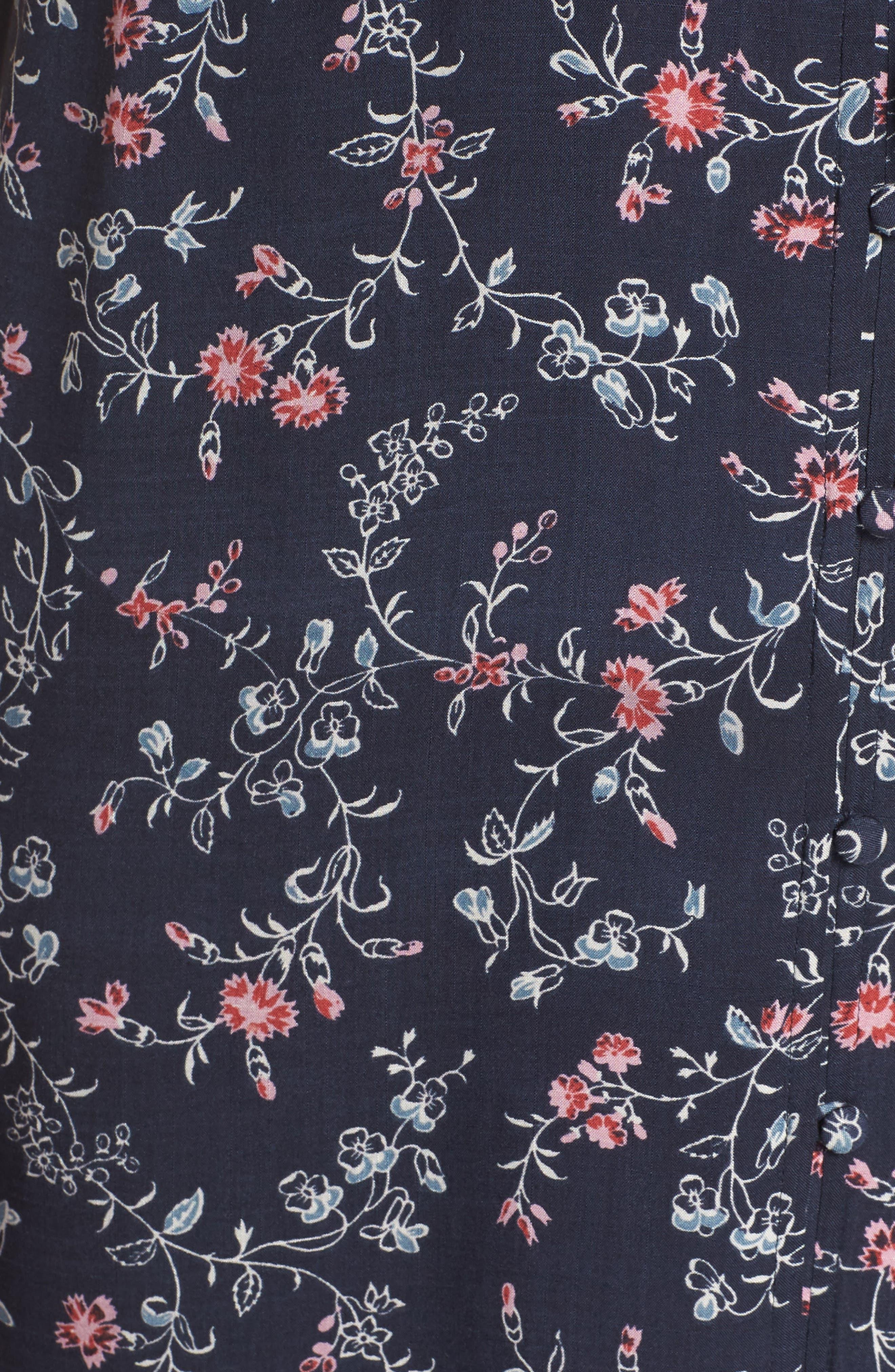 Cherelle Floral Print Minidress,                             Alternate thumbnail 6, color,                             400