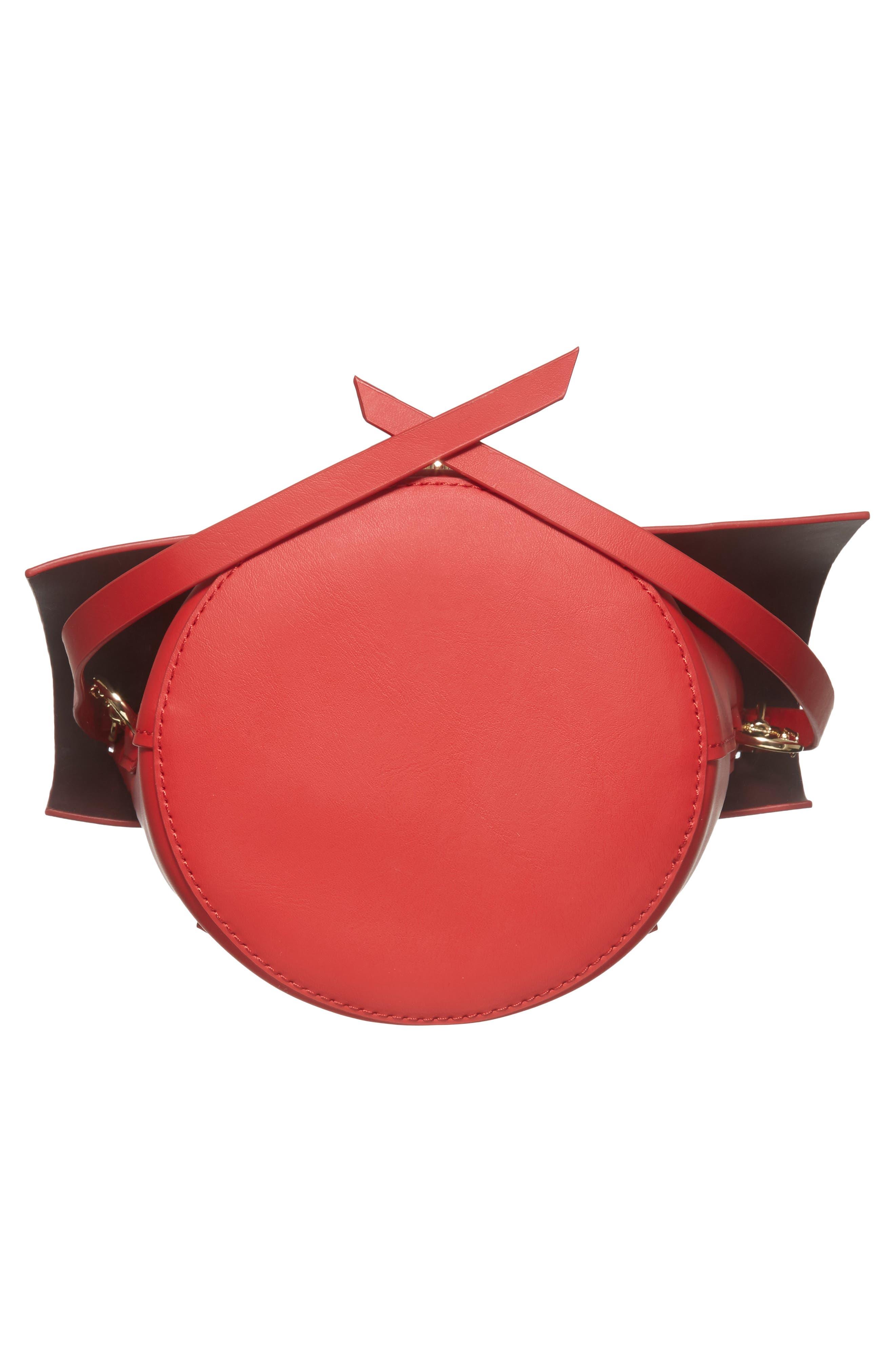 Belay Leather Crossbody Bucket Bag,                             Alternate thumbnail 6, color,                             620