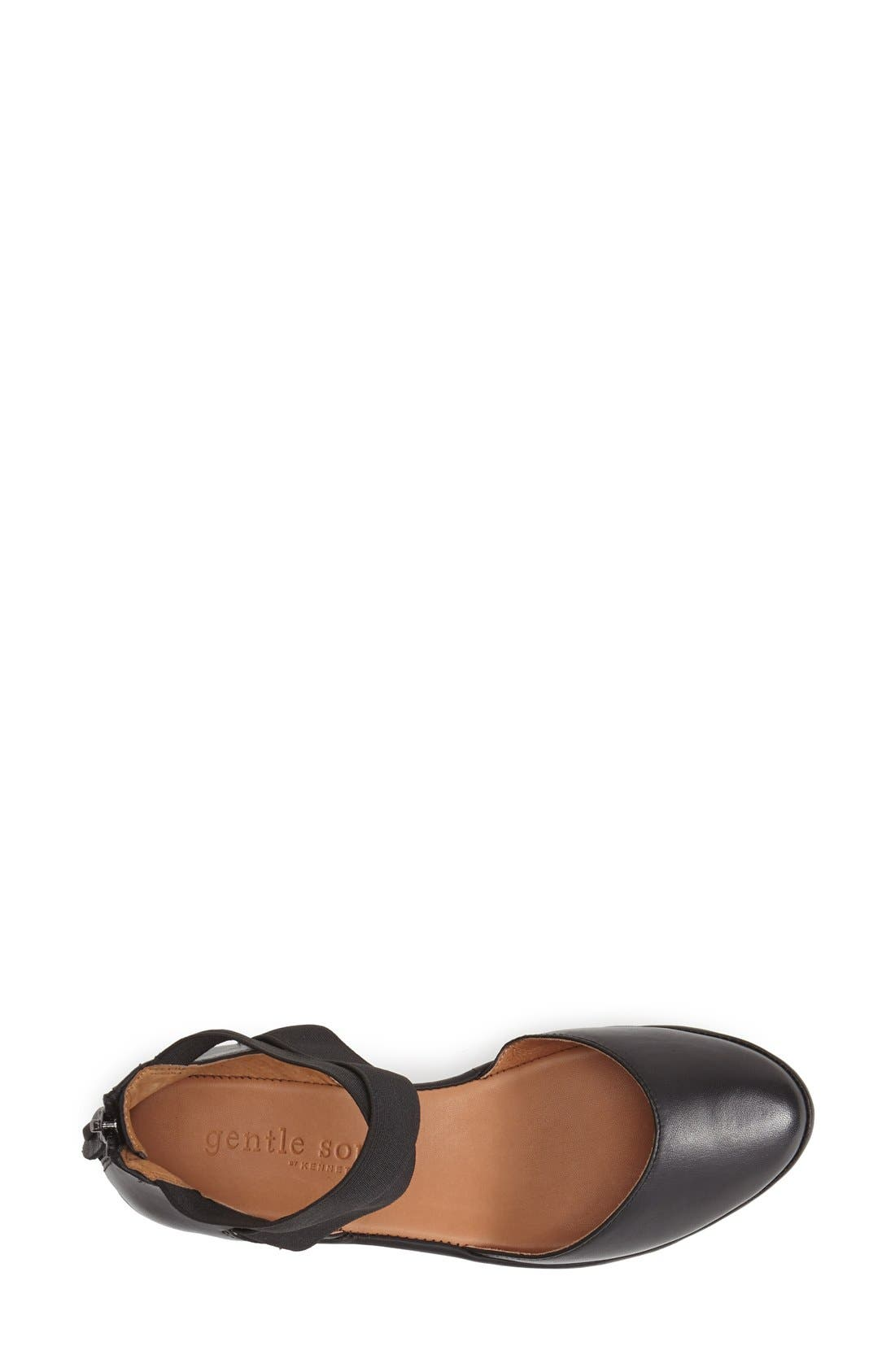 by Kenneth Cole 'Noa' Elastic Strap d'Orsay Sandal,                             Alternate thumbnail 3, color,                             BLACK
