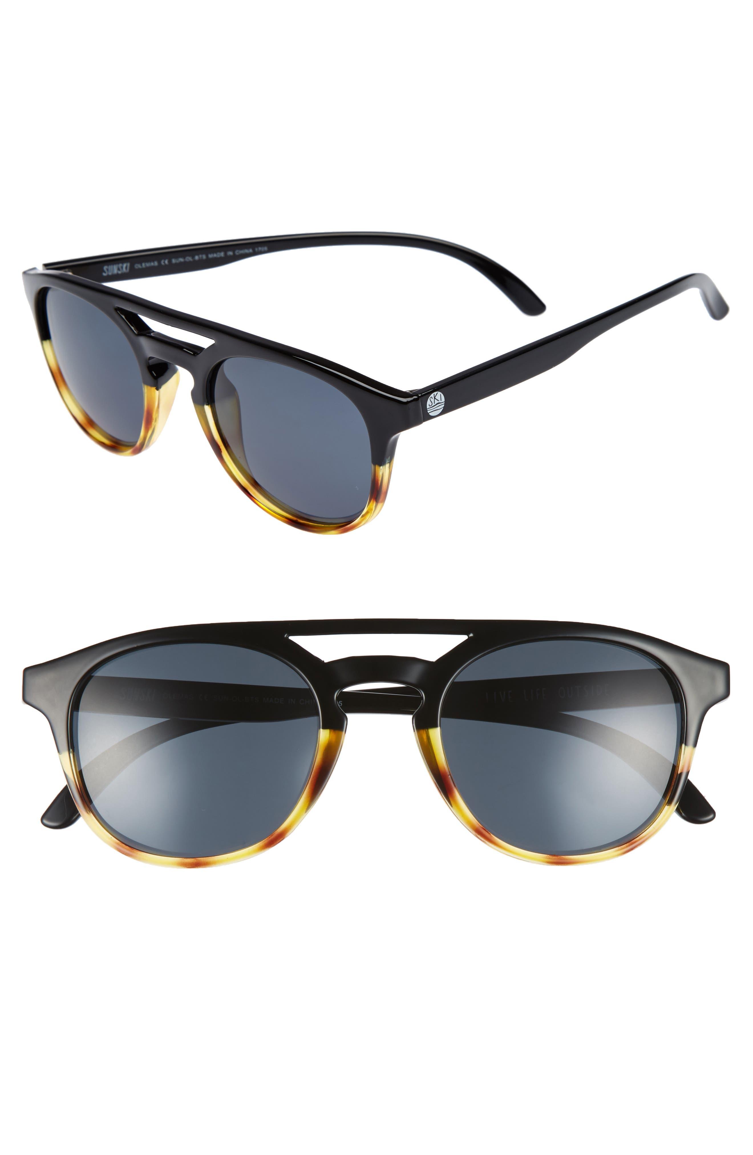 Olema 53mm Polarized Sunglasses,                             Alternate thumbnail 2, color,                             BLACK TORTOISE SLATE