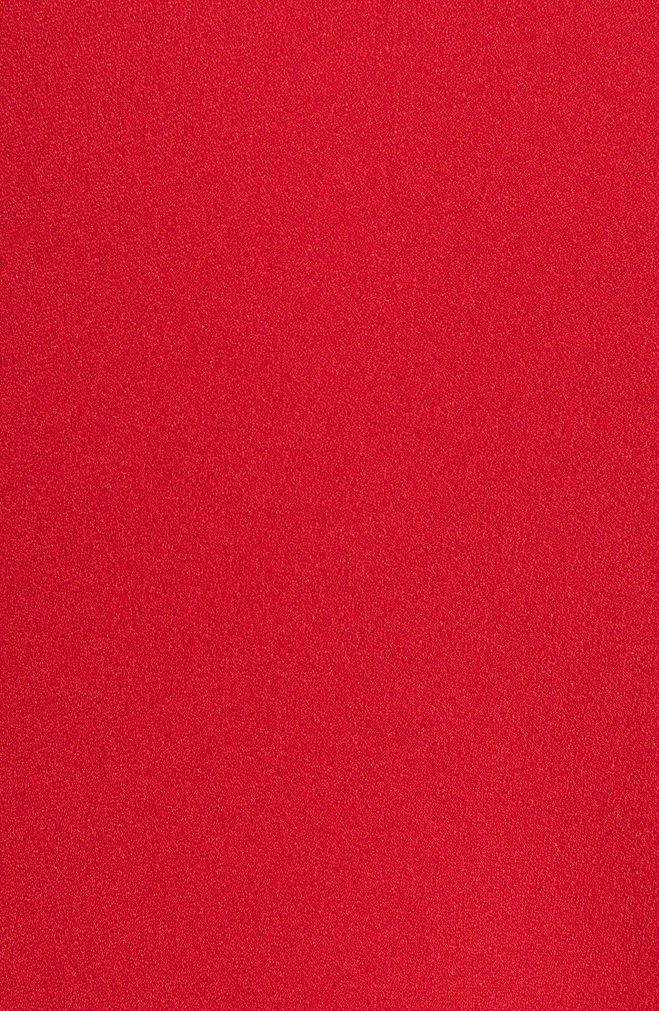 Satin Crepe Godet Skirt,                             Alternate thumbnail 5, color,                             600