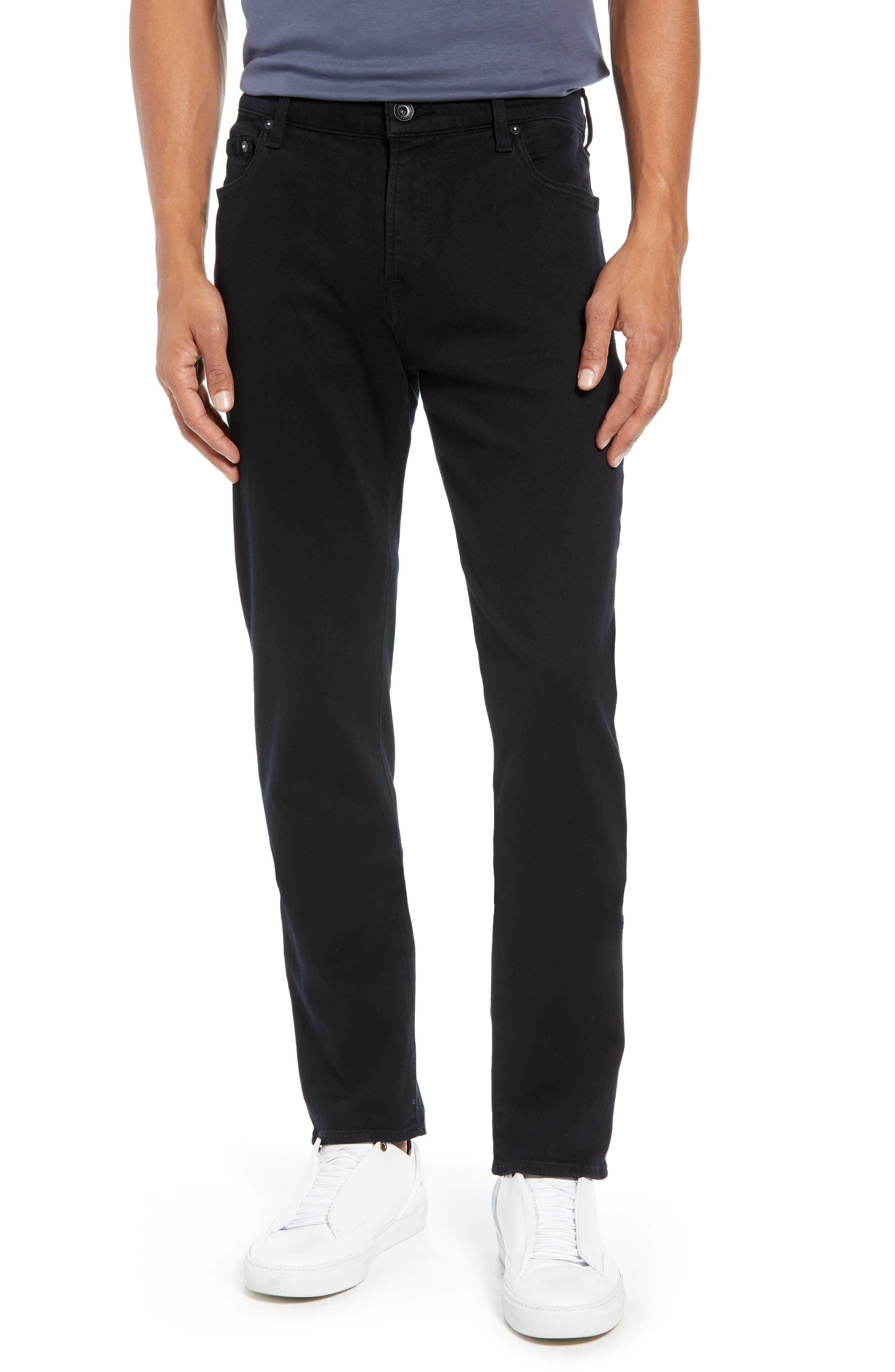 Adrien Slim Fit Straight Leg Jeans,                         Main,                         color, AUTHENTIC BLACK