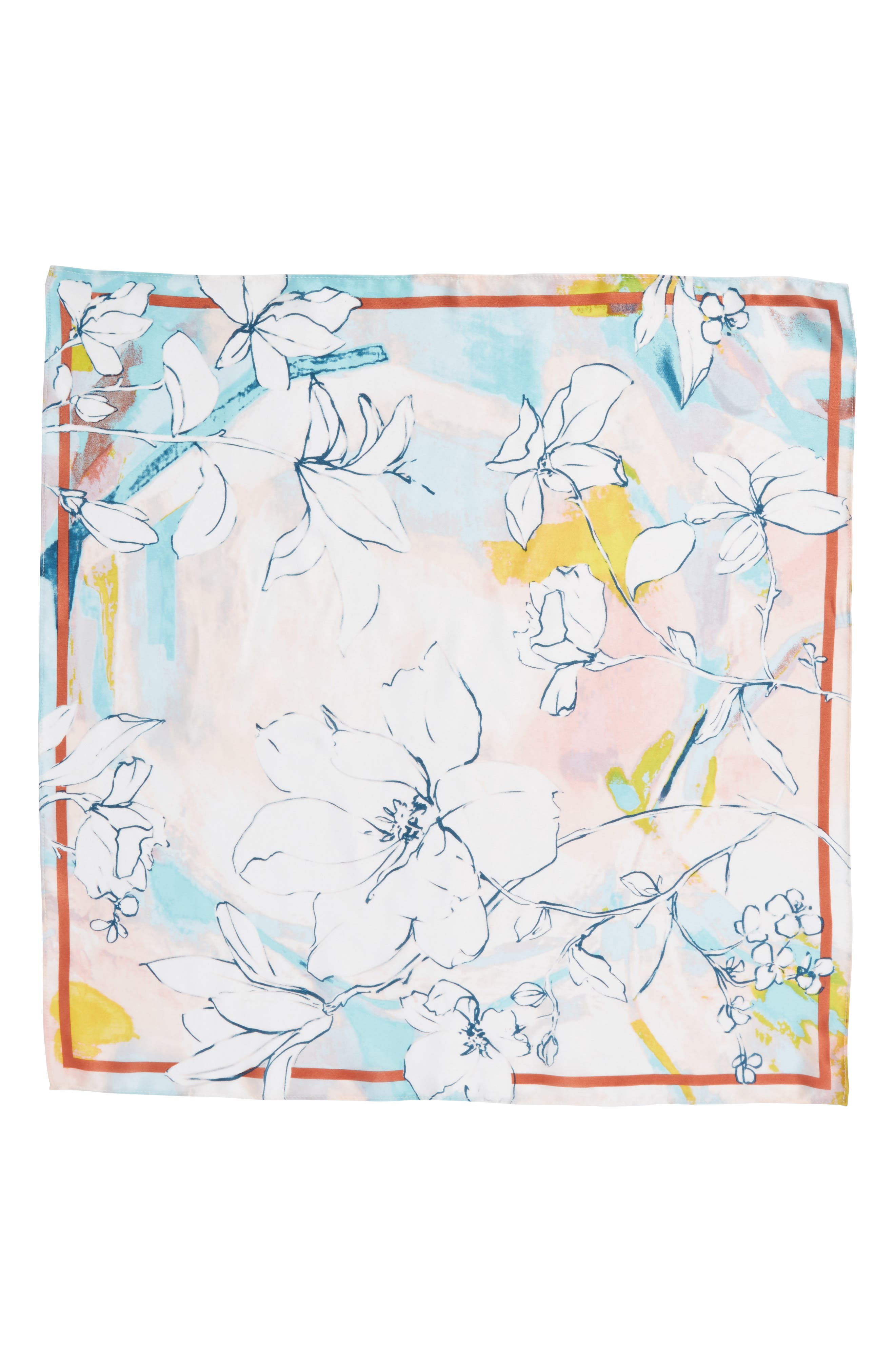 Print Silk Scarf,                             Alternate thumbnail 18, color,