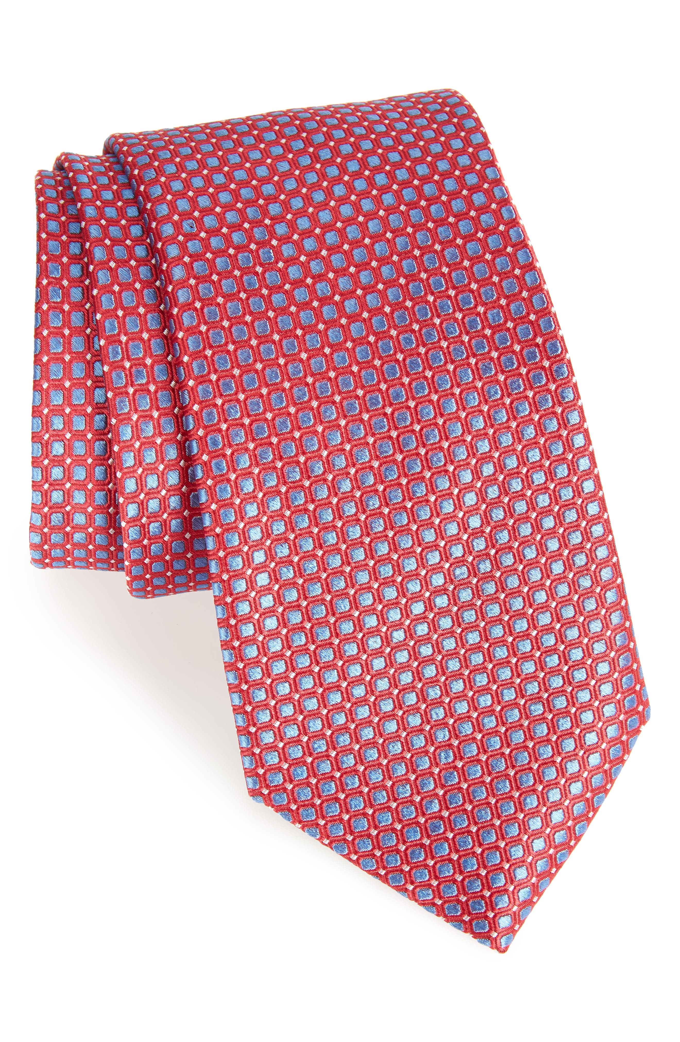 Laguna Check Silk Tie,                             Main thumbnail 4, color,