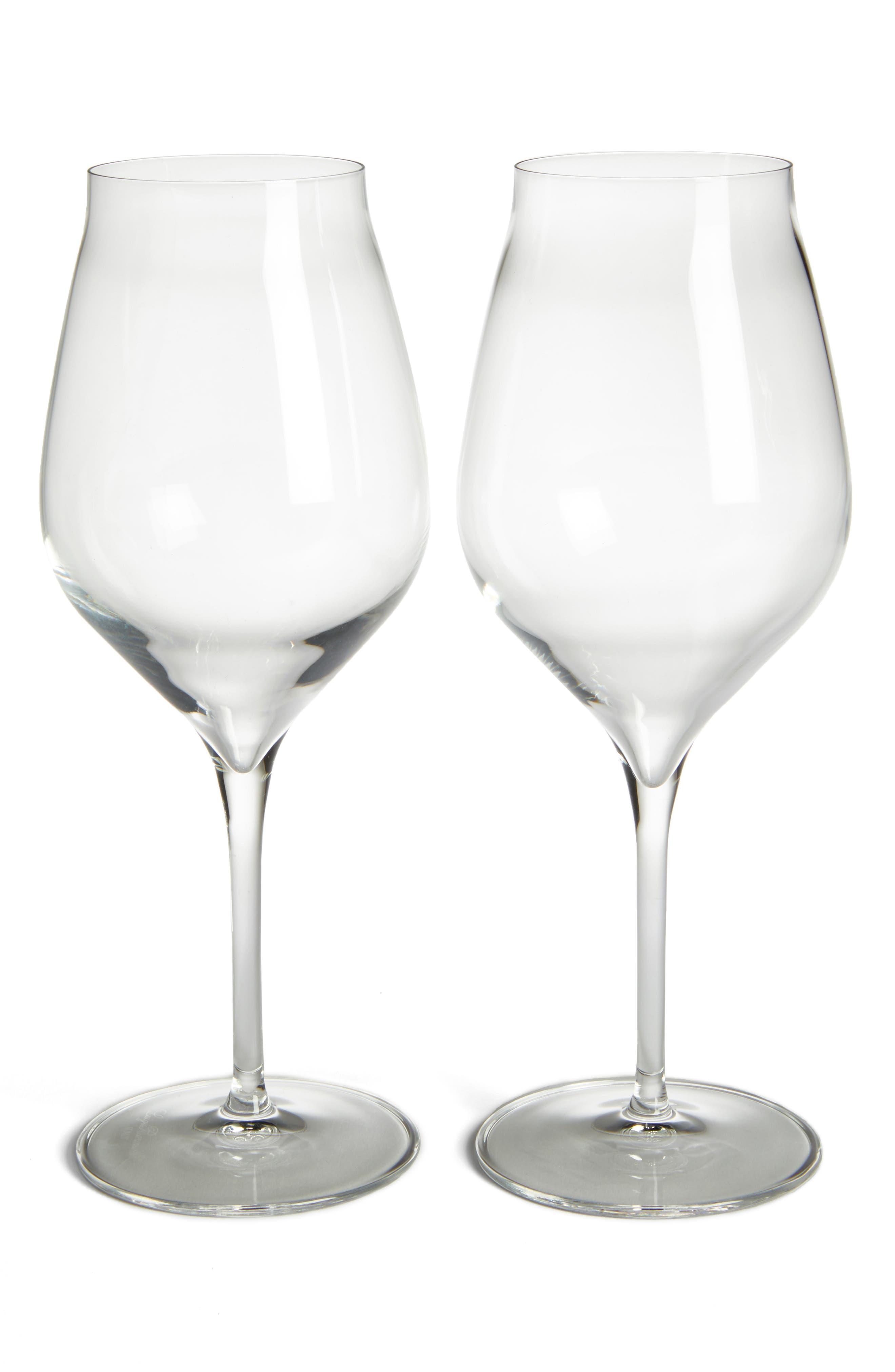 Luigi Bormiolo Vinea Cannonau Set of 2 Red Wine Glasses,                             Main thumbnail 1, color,                             CLEAR