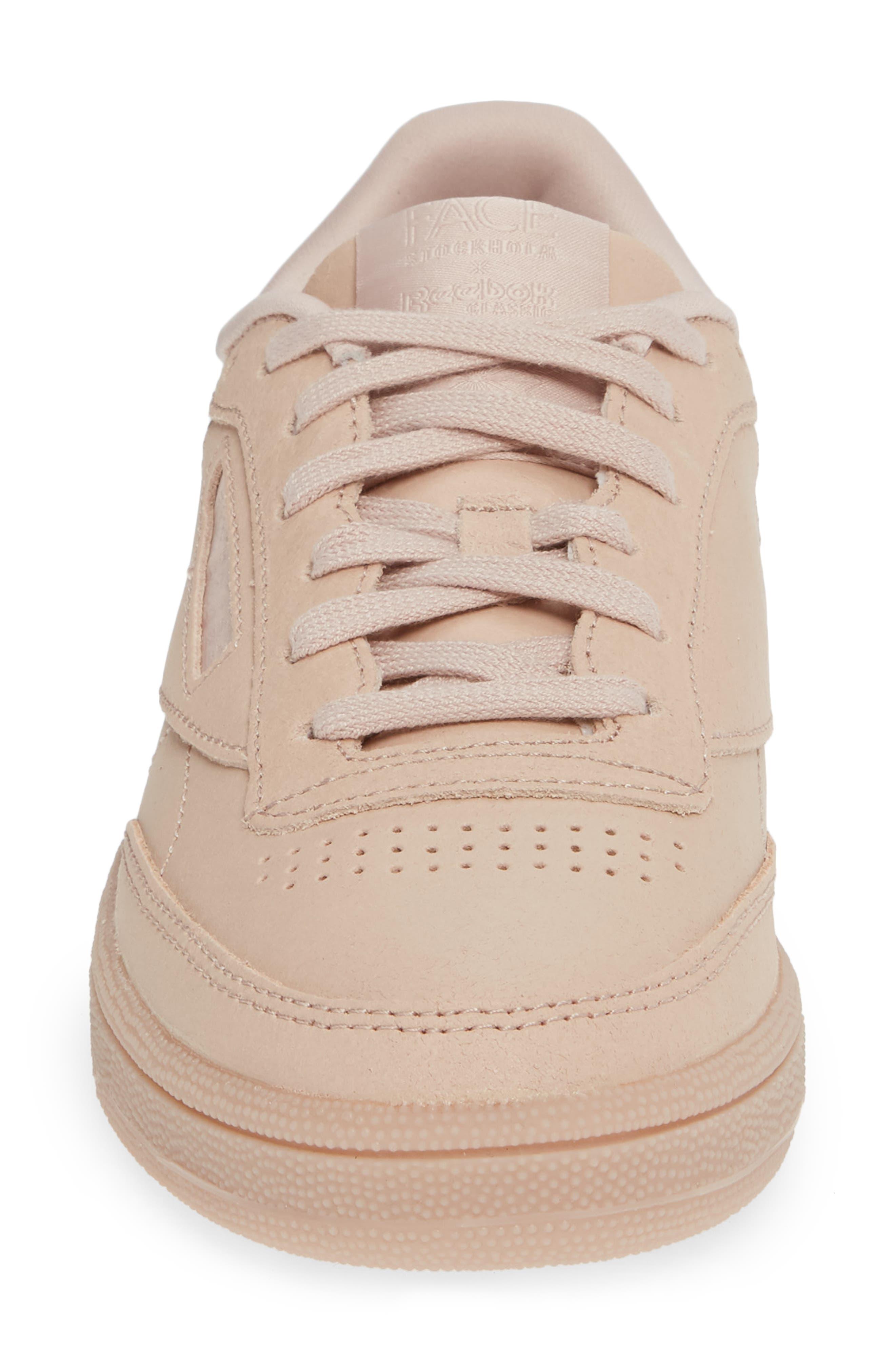 Club C 85 Sneaker,                             Alternate thumbnail 4, color,                             BARE BEIGE/ WHITE