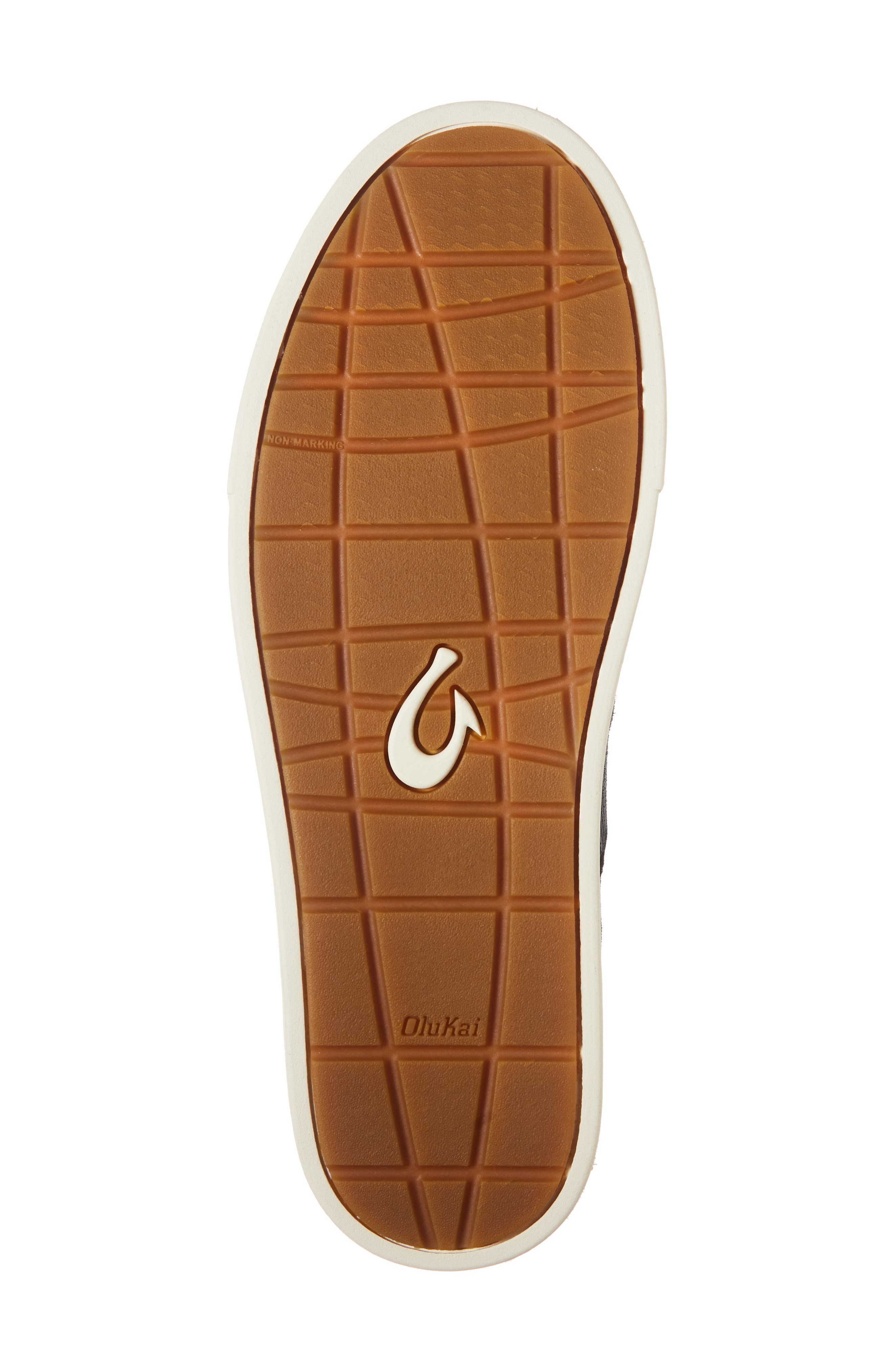 Kahu Kai Collapsible Slip-On Sneaker,                             Alternate thumbnail 6, color,                             DARK SHADOW/ OFF WHITE LEATHER