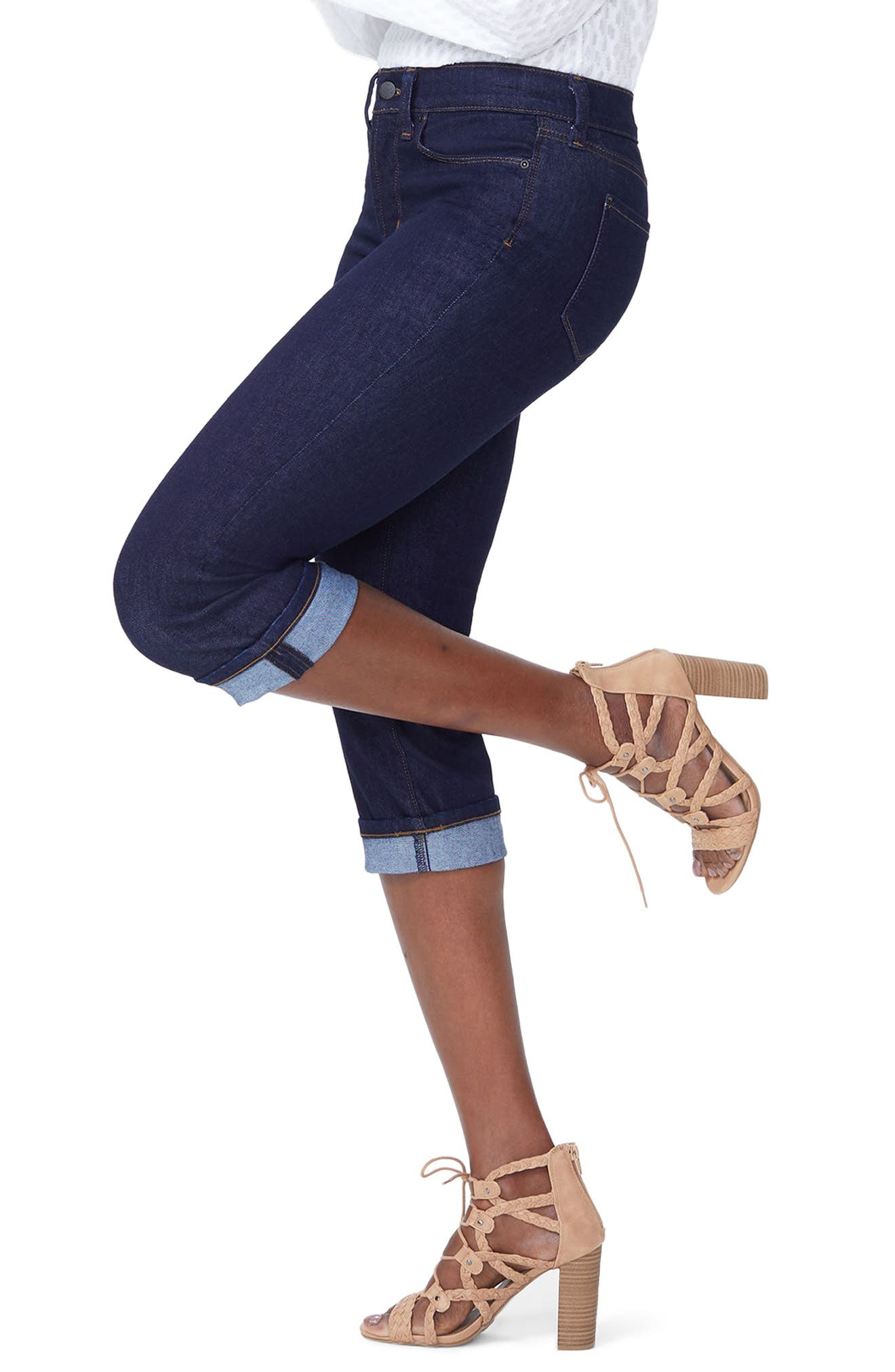 Marilyn Crop Cuff Jeans,                             Alternate thumbnail 2, color,                             408