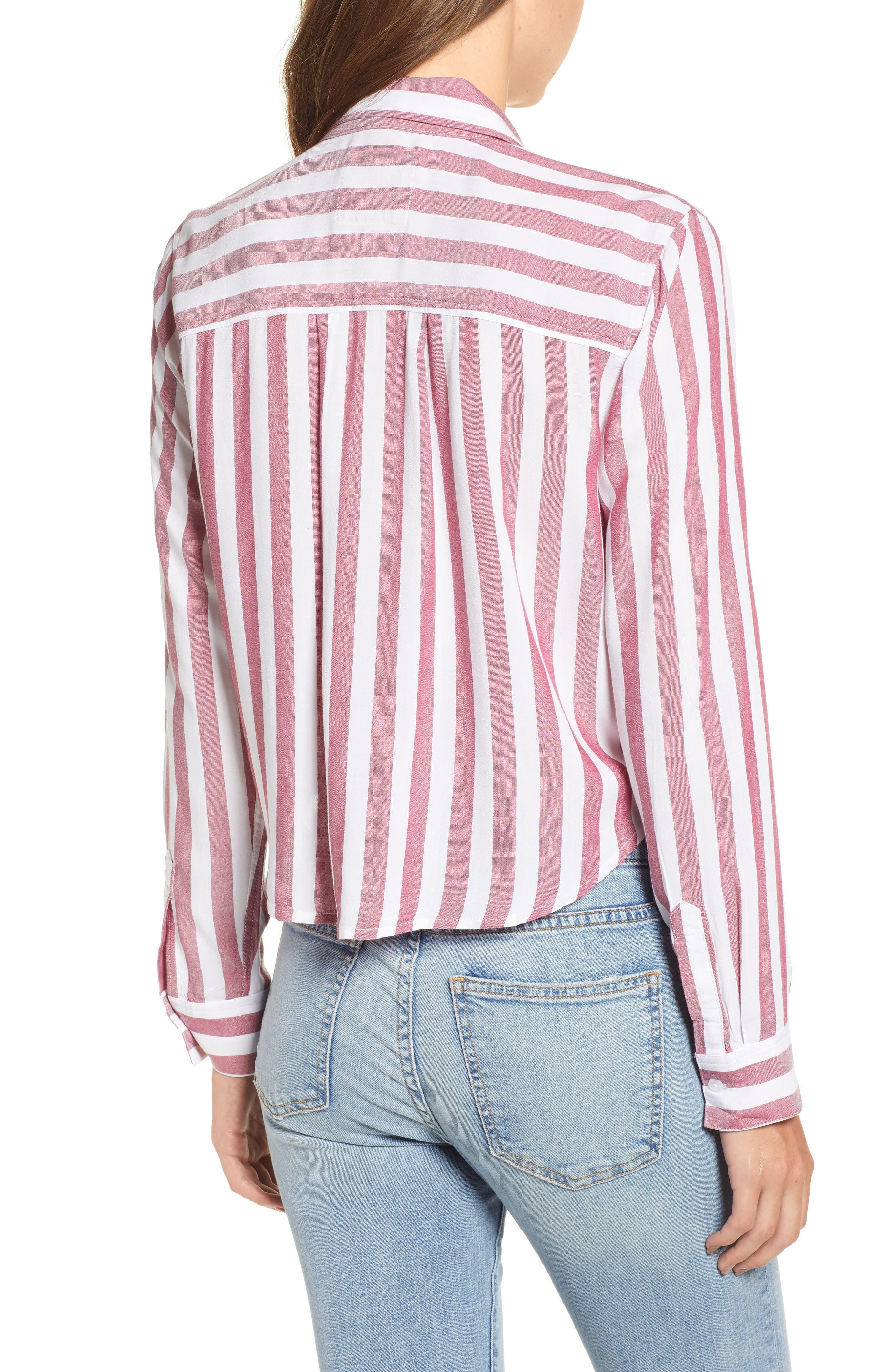Val Tie Front Shirt,                             Alternate thumbnail 2, color,                             DALI STRIPE