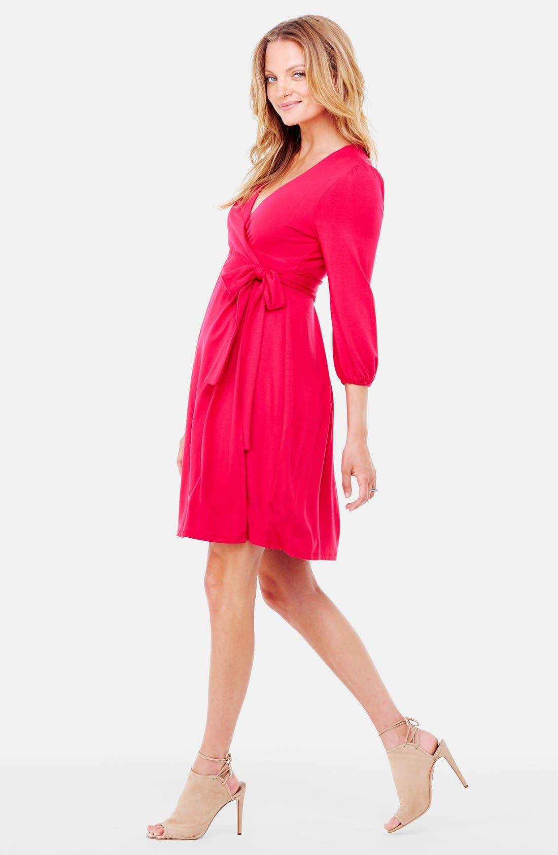 Nursing Friendly Maternity Wrap Dress,                             Alternate thumbnail 10, color,
