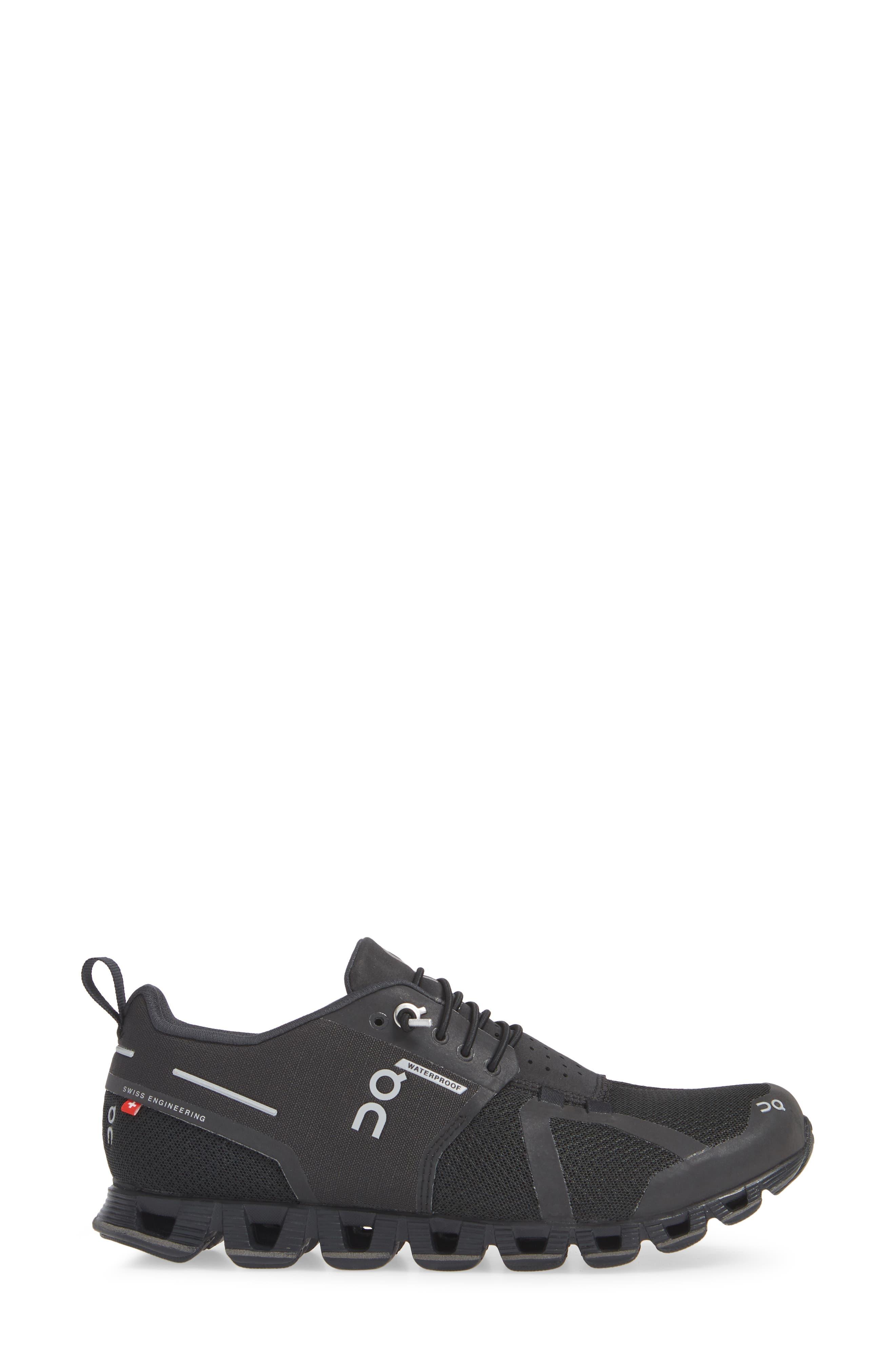 Cloud Waterproof Running Shoe,                             Alternate thumbnail 3, color,                             BLACK/ LUNAR