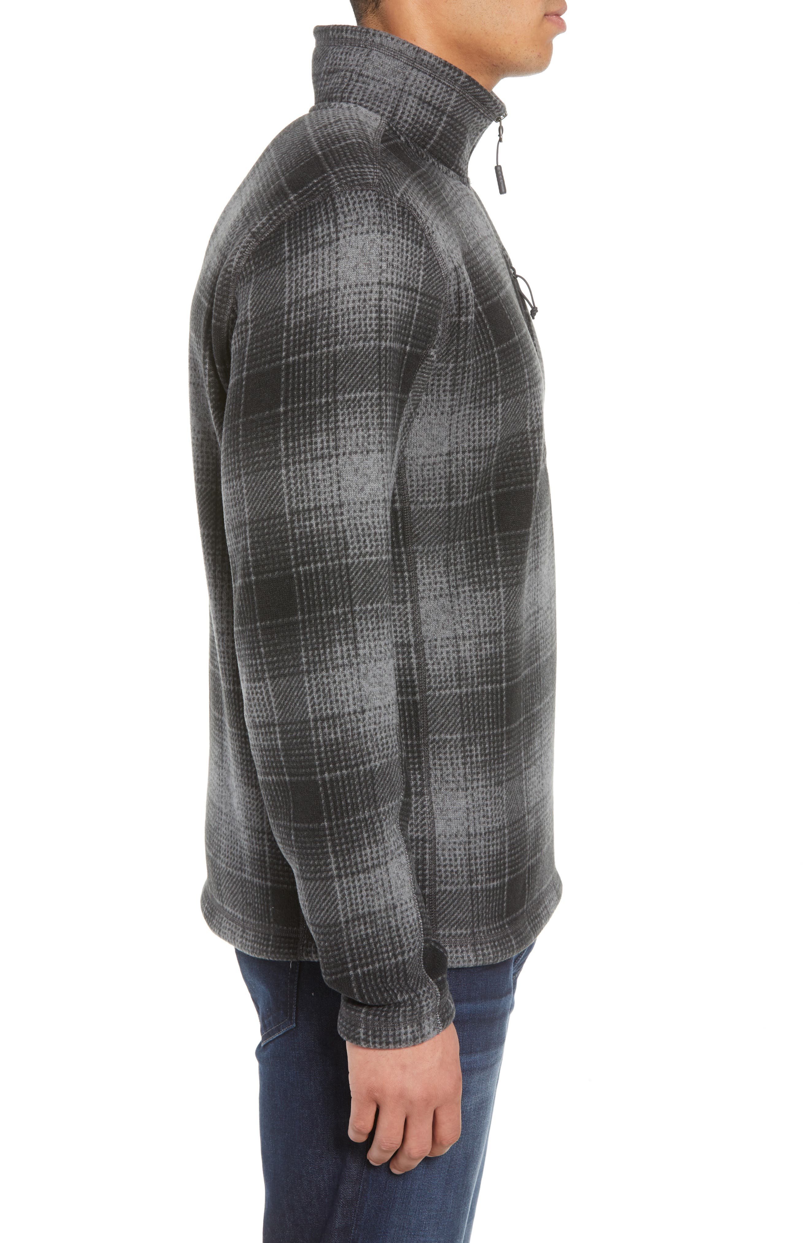 Novelty Gordon Lyons Plaid Pullover,                             Alternate thumbnail 3, color,                             MONUMENT GREY OMBRE PLAID