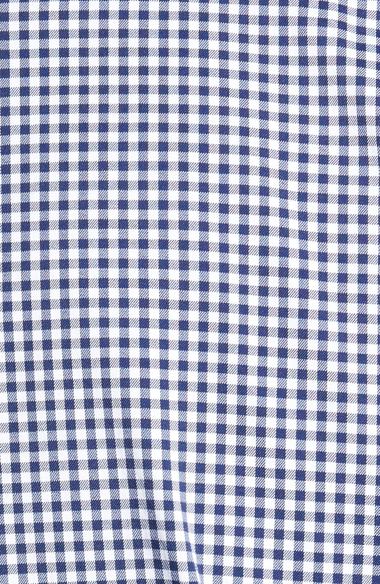 Ramsey Easy Care Gingham Sport Shirt,                             Alternate thumbnail 5, color,                             400