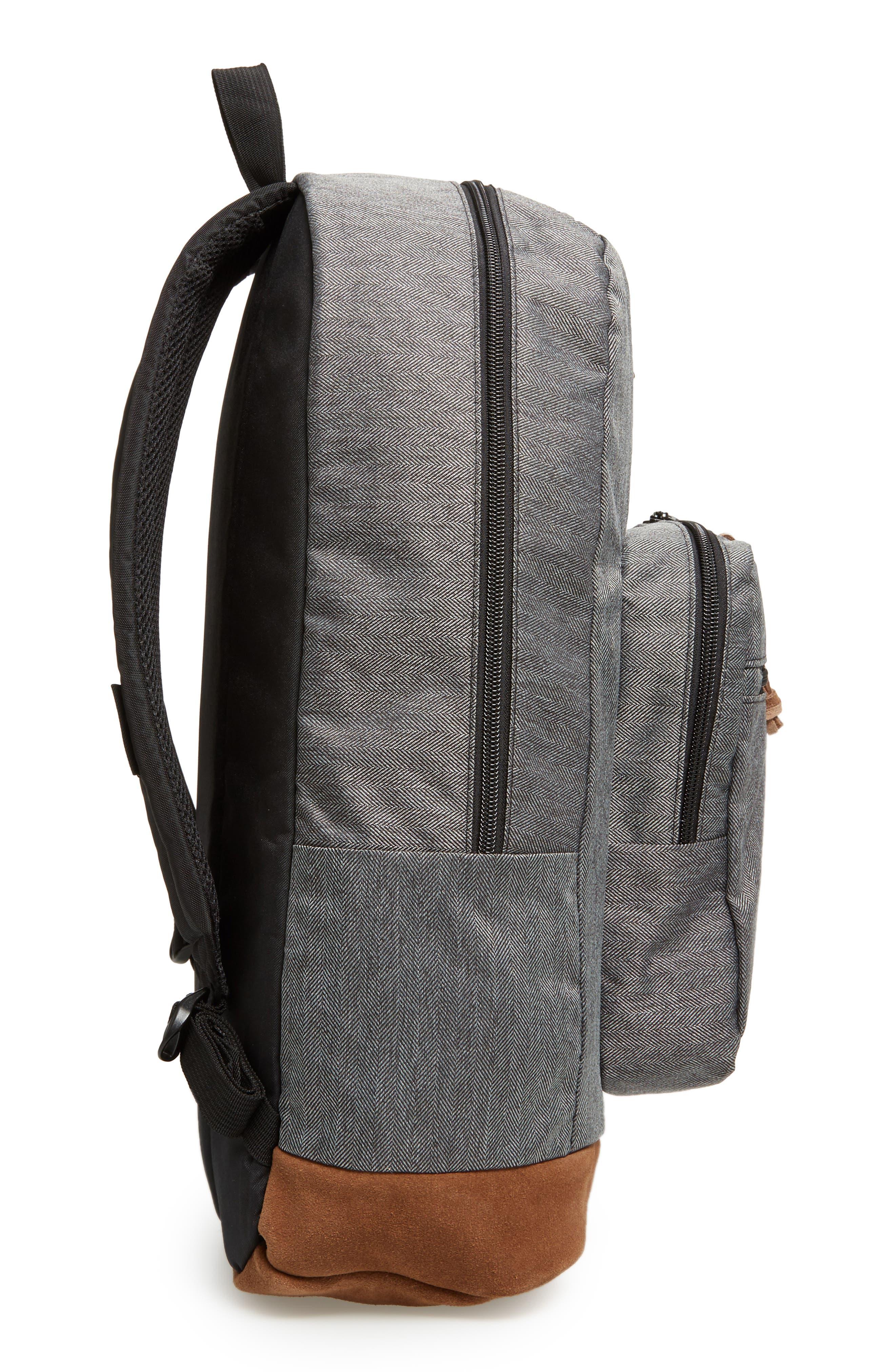 'Right Pack' Backpack,                             Alternate thumbnail 5, color,                             BLACK/ WHITE
