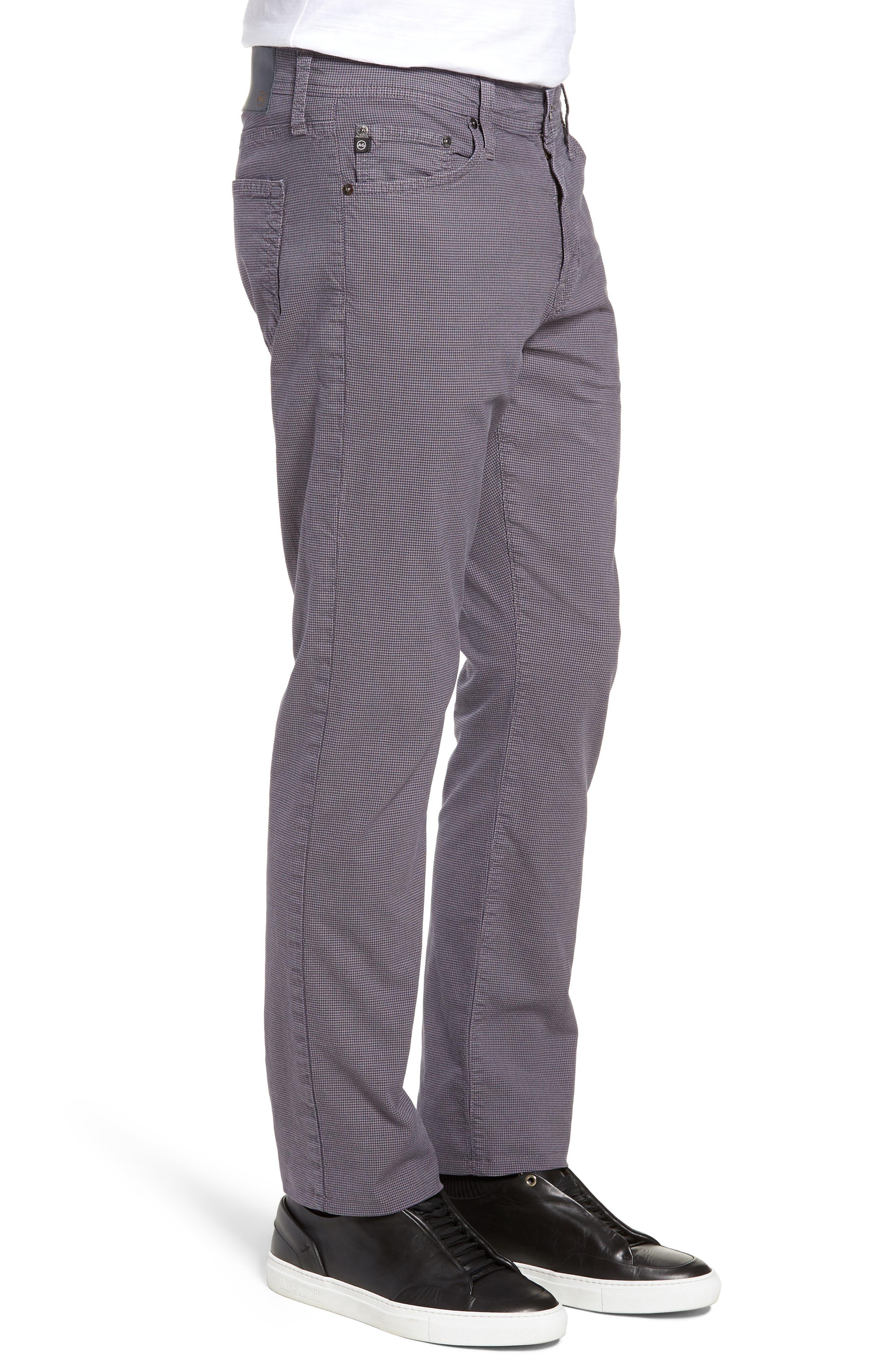 Everett Houndstooth Slim Fit Pants,                             Alternate thumbnail 3, color,                             AUTUMN FOG