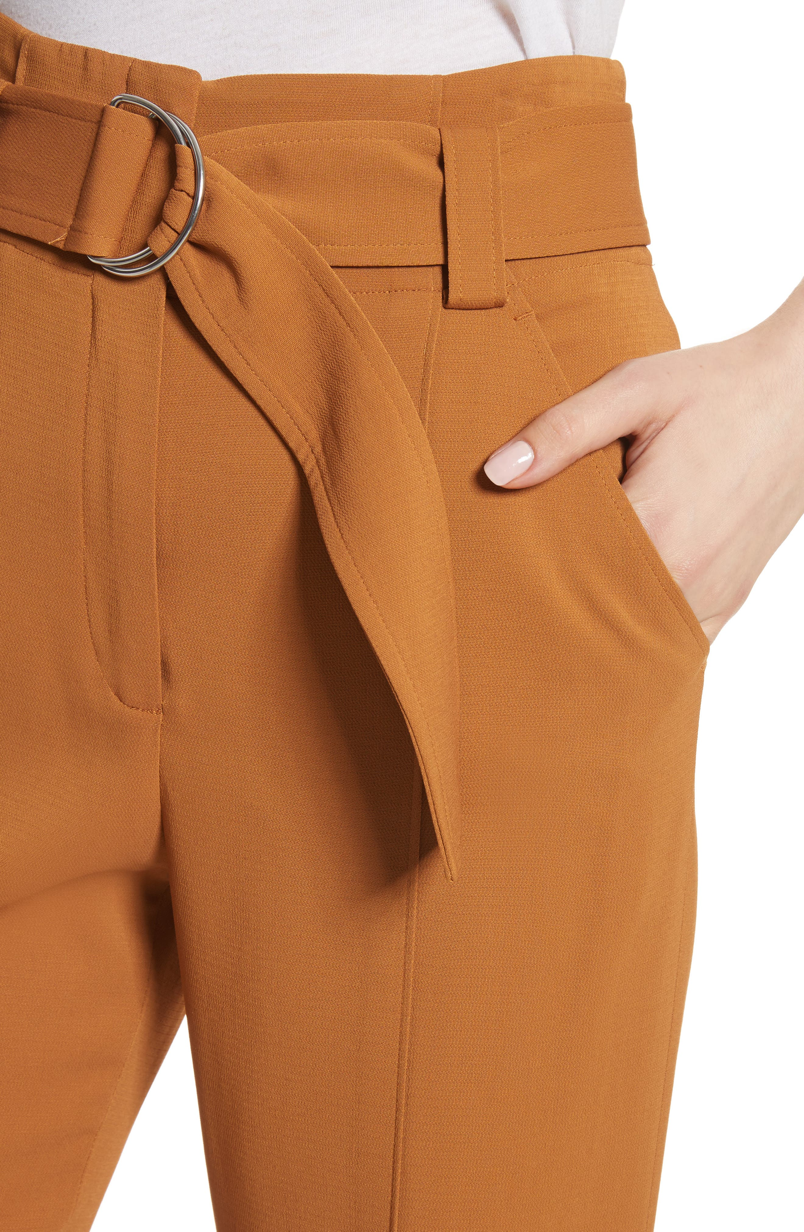 Foster Flare Leg Crepe Pants,                             Alternate thumbnail 4, color,