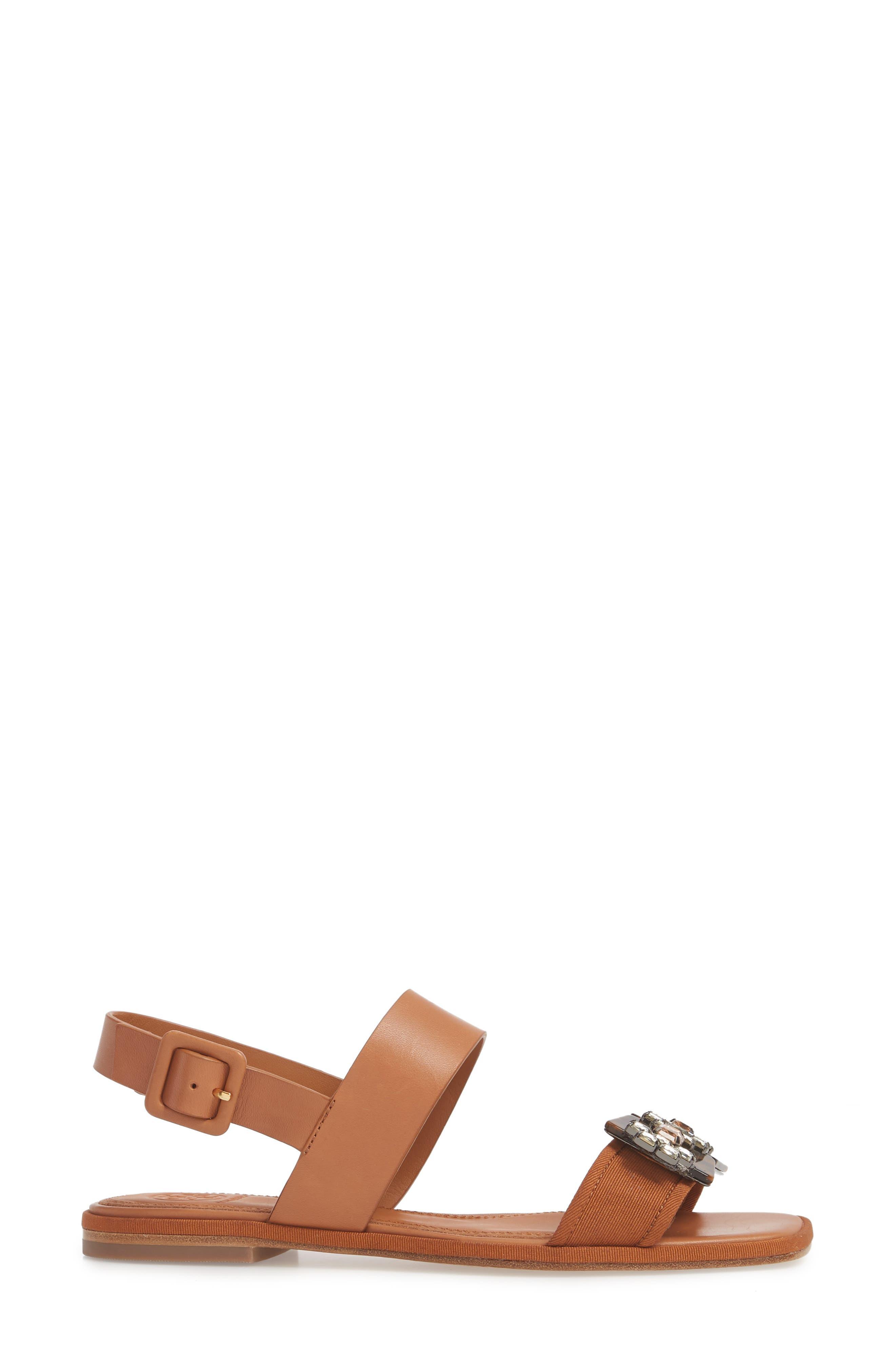 Delaney Embellished Double Strap Sandal,                             Alternate thumbnail 3, color,                             210