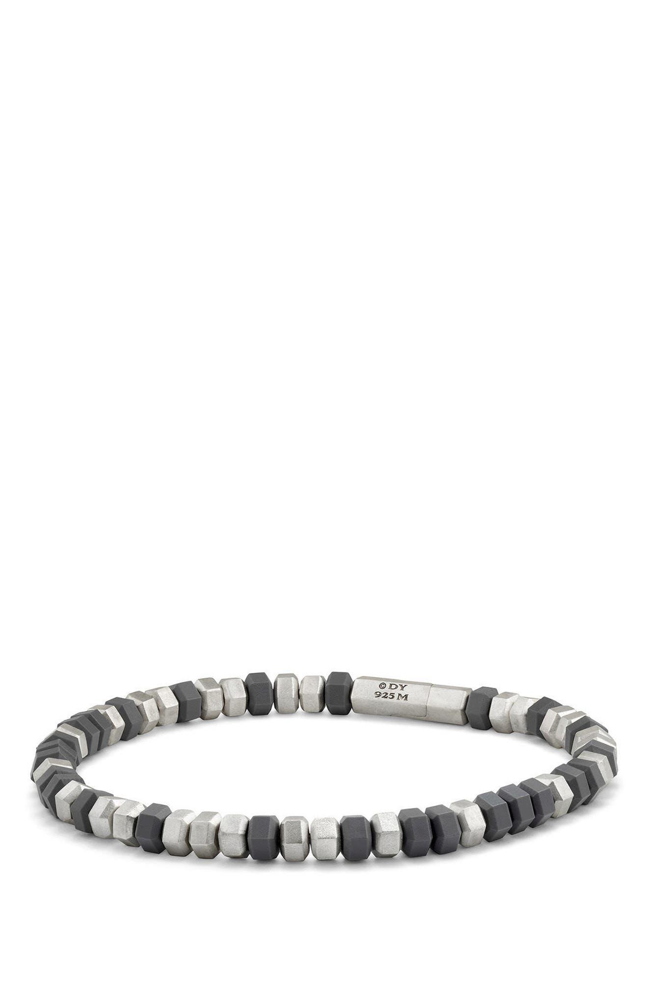 Hex Bead Bracelet,                         Main,                         color, GREY