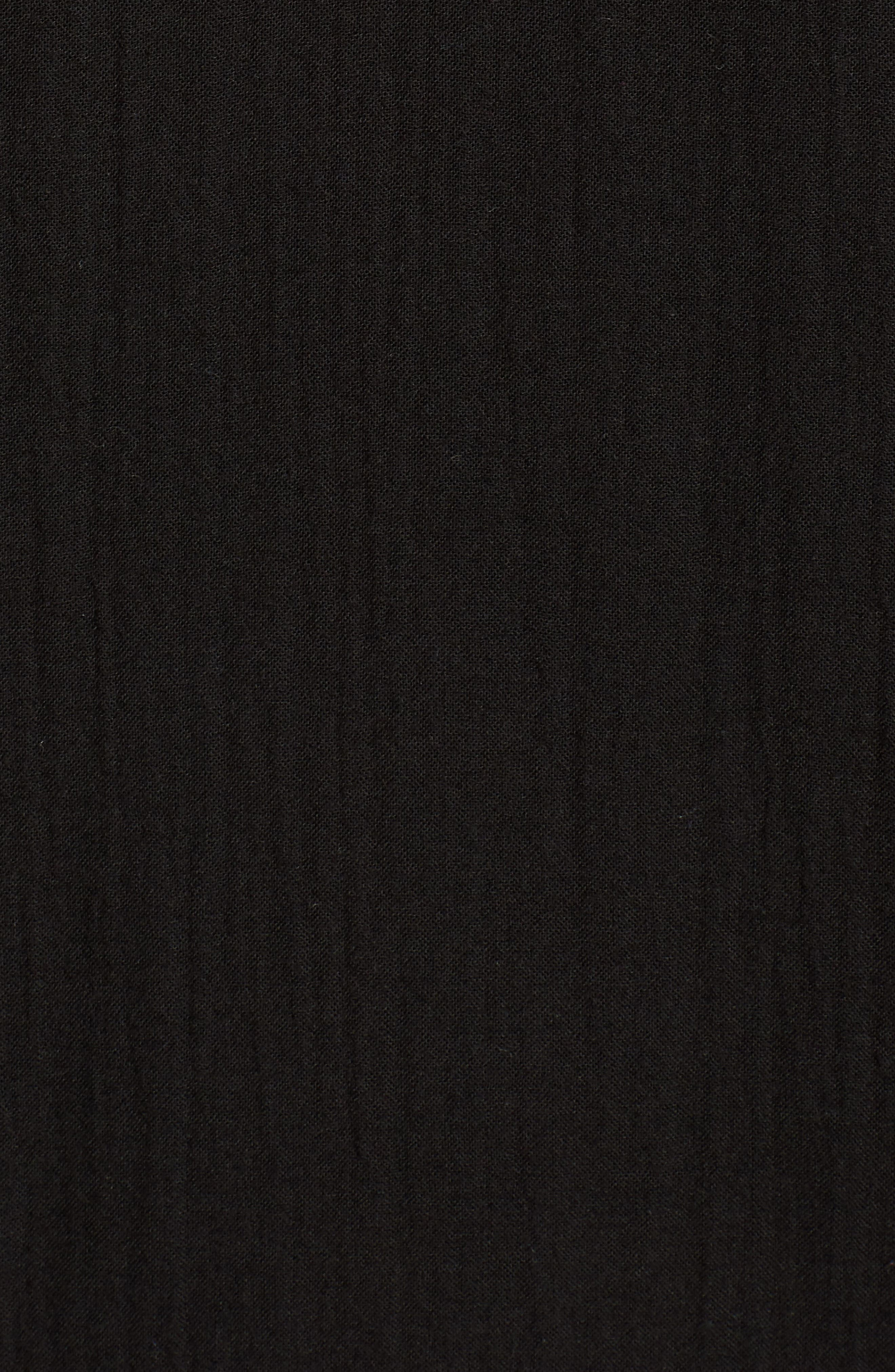 V-Neck Cotton Midi Dress,                             Alternate thumbnail 6, color,                             001