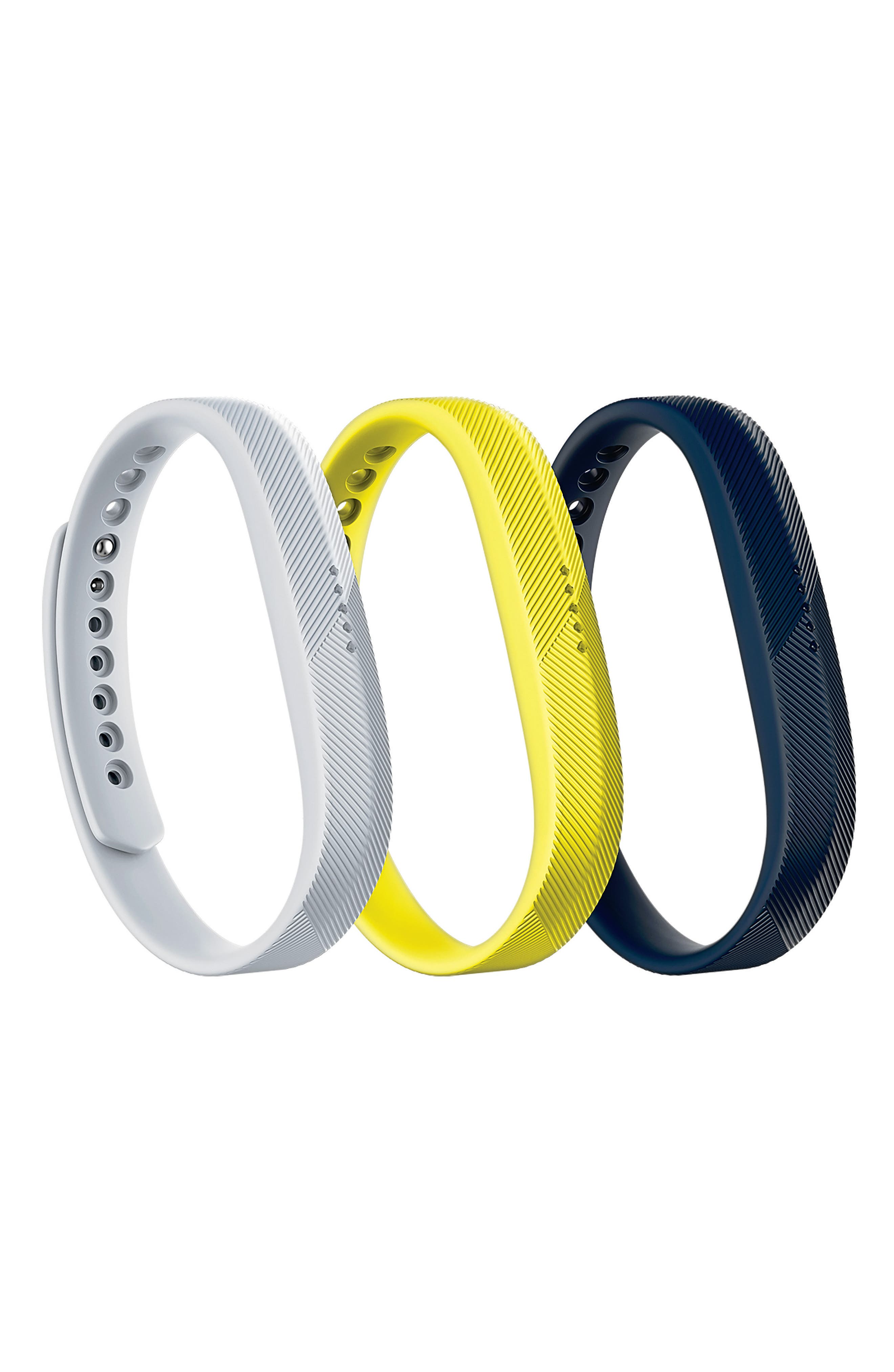 Flex 2 3-Pack Accessory Bands,                         Main,                         color, NAVY/ GUNMETAL/ CHARTREUSE