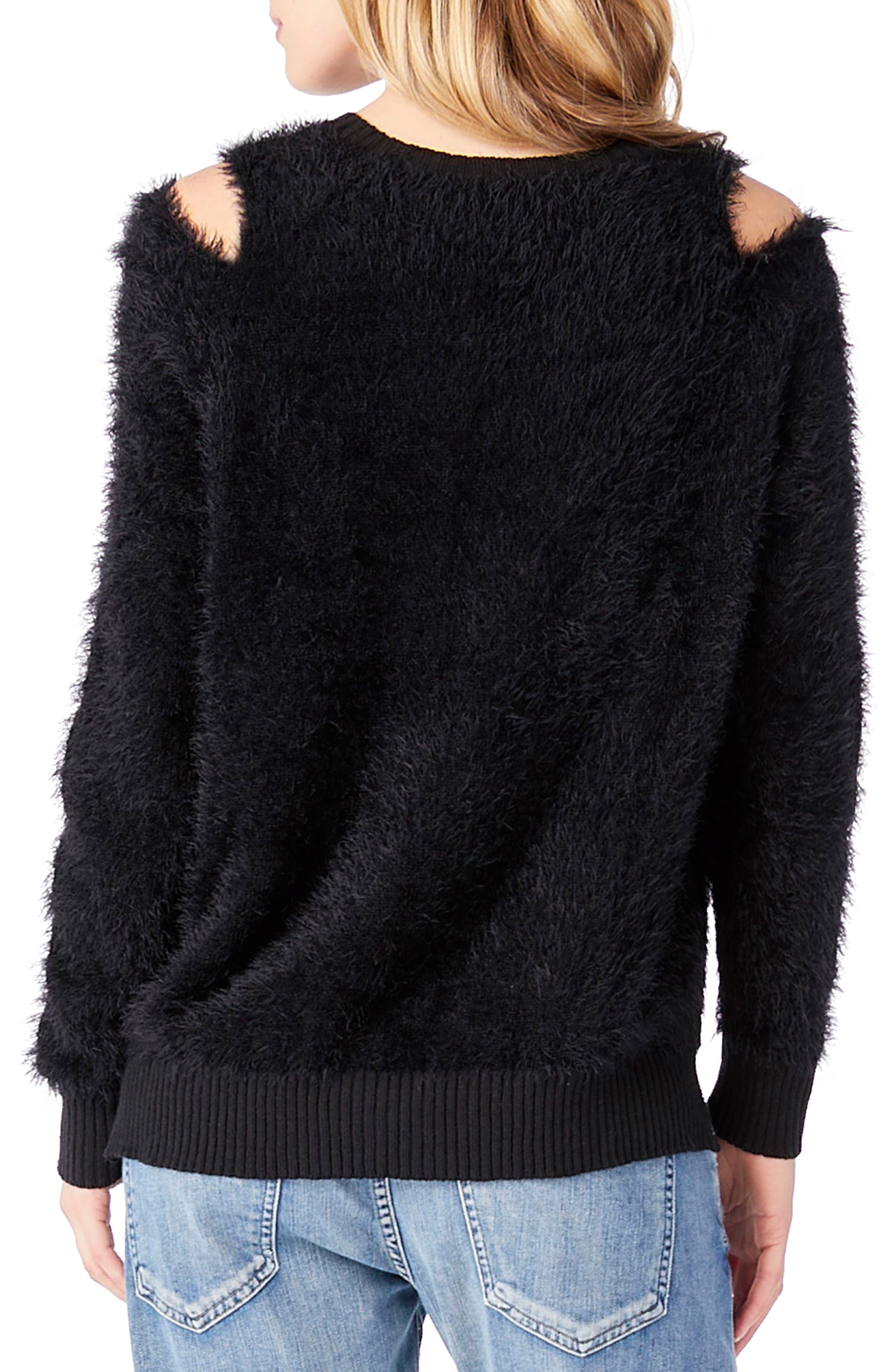 Eyelash Knit Sweater,                             Alternate thumbnail 2, color,                             001