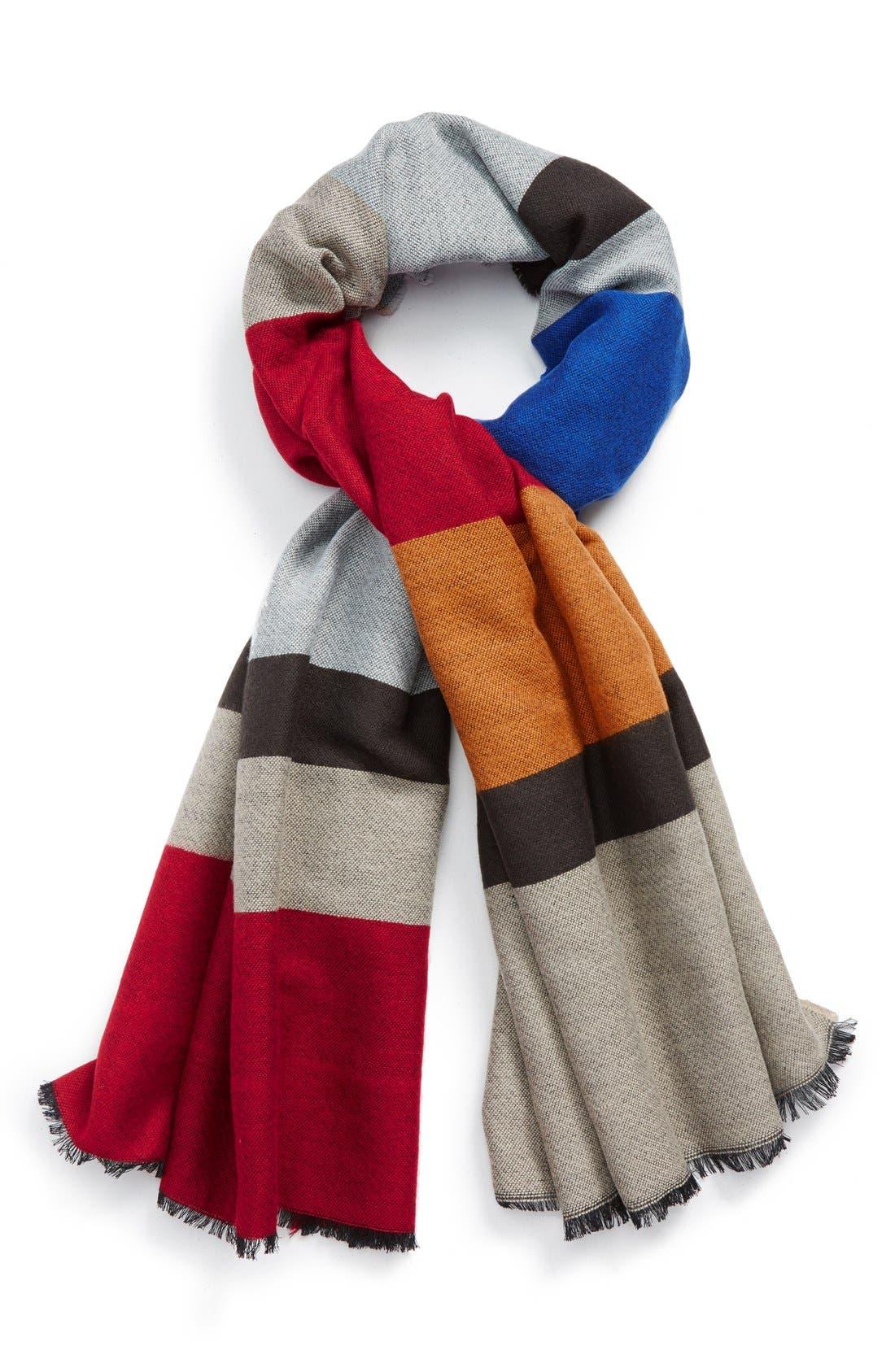 BlanketStripeScarf,                             Main thumbnail 1, color,                             611