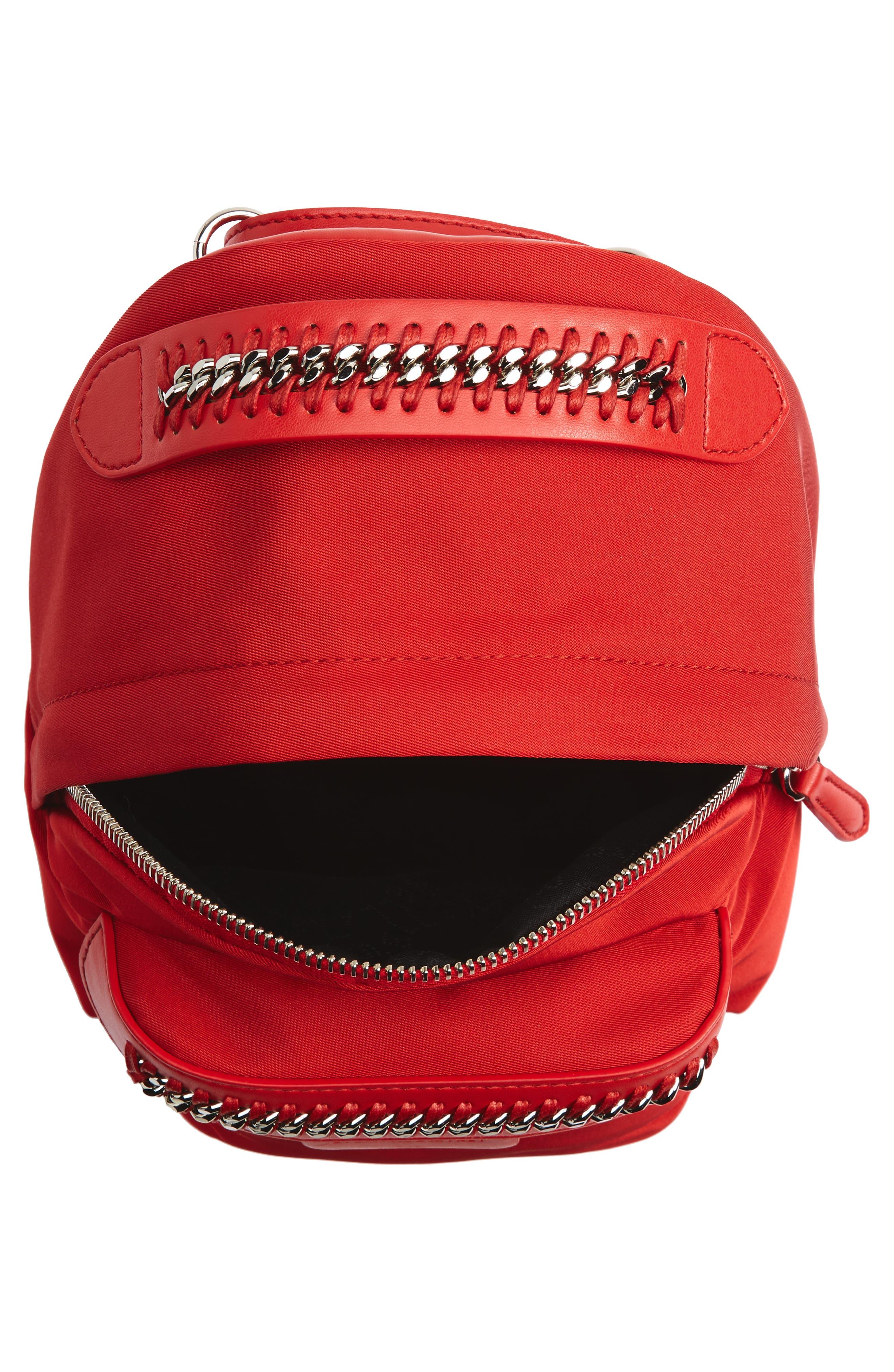 Mini Falabella Nylon Backpack,                             Alternate thumbnail 8, color,