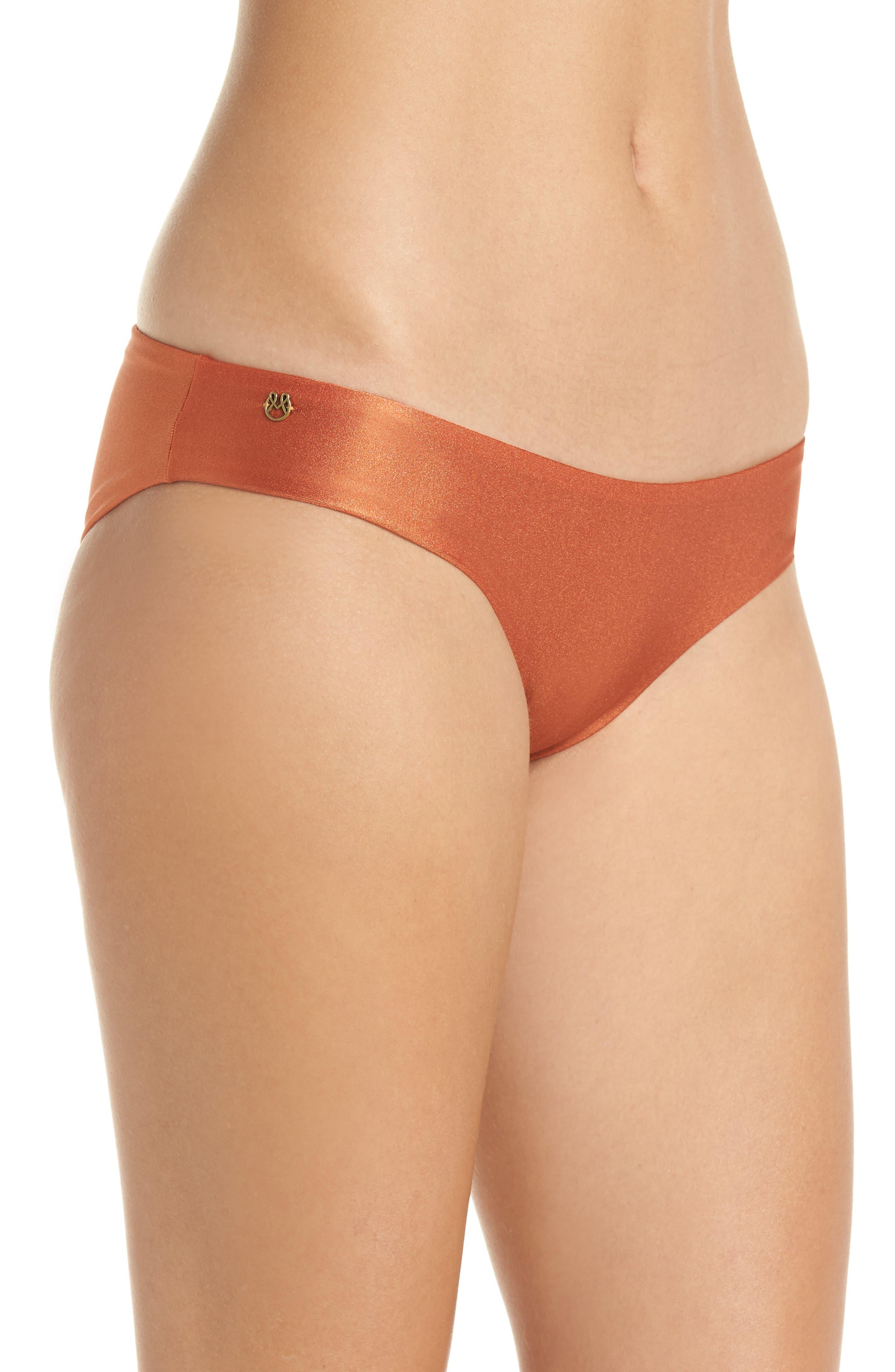 Shimmering Sublime Signature Reversible Bikini Bottoms,                             Alternate thumbnail 4, color,                             221