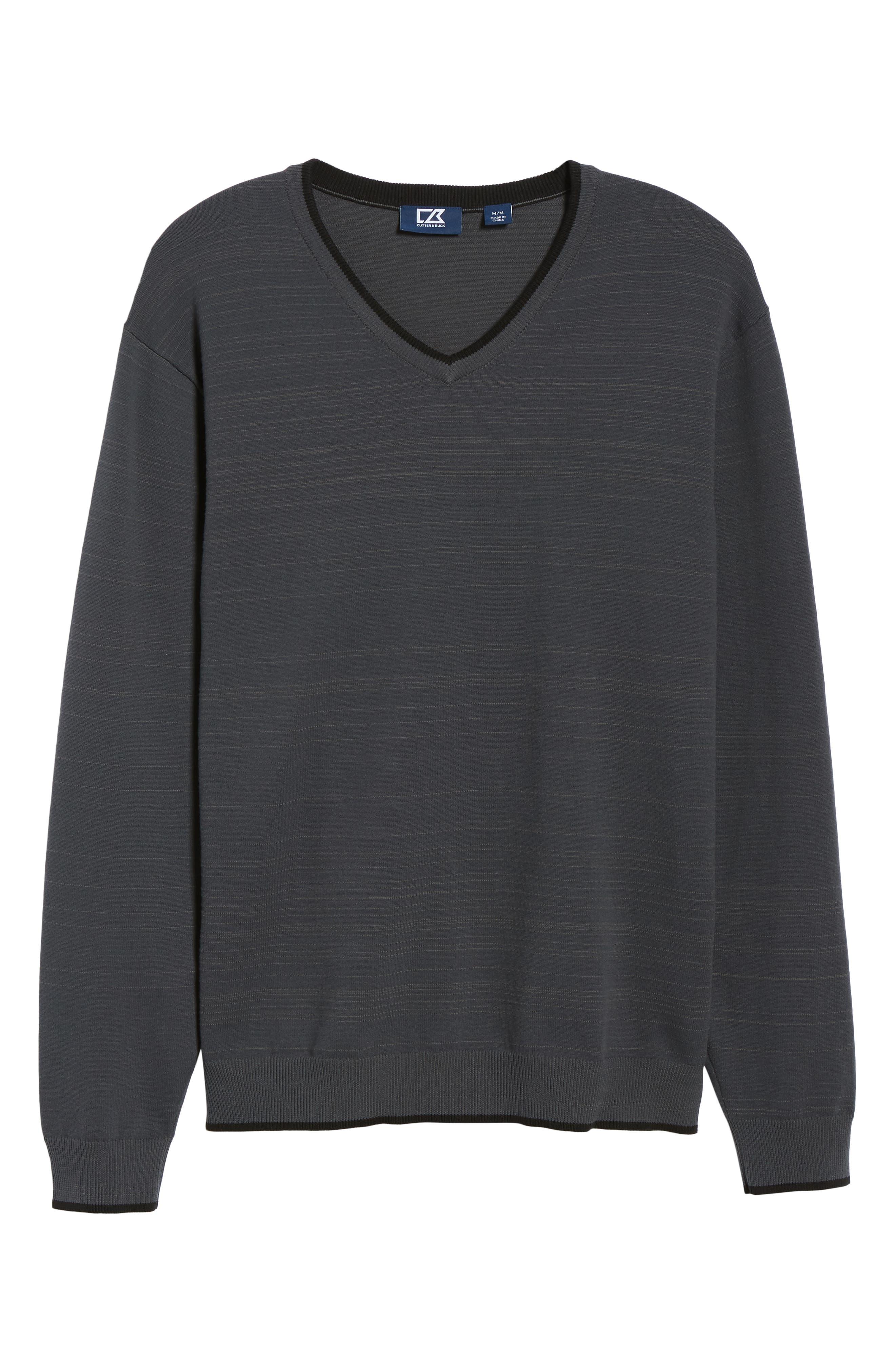 Impact V-Neck Sweater,                             Alternate thumbnail 6, color,                             CHARCOAL