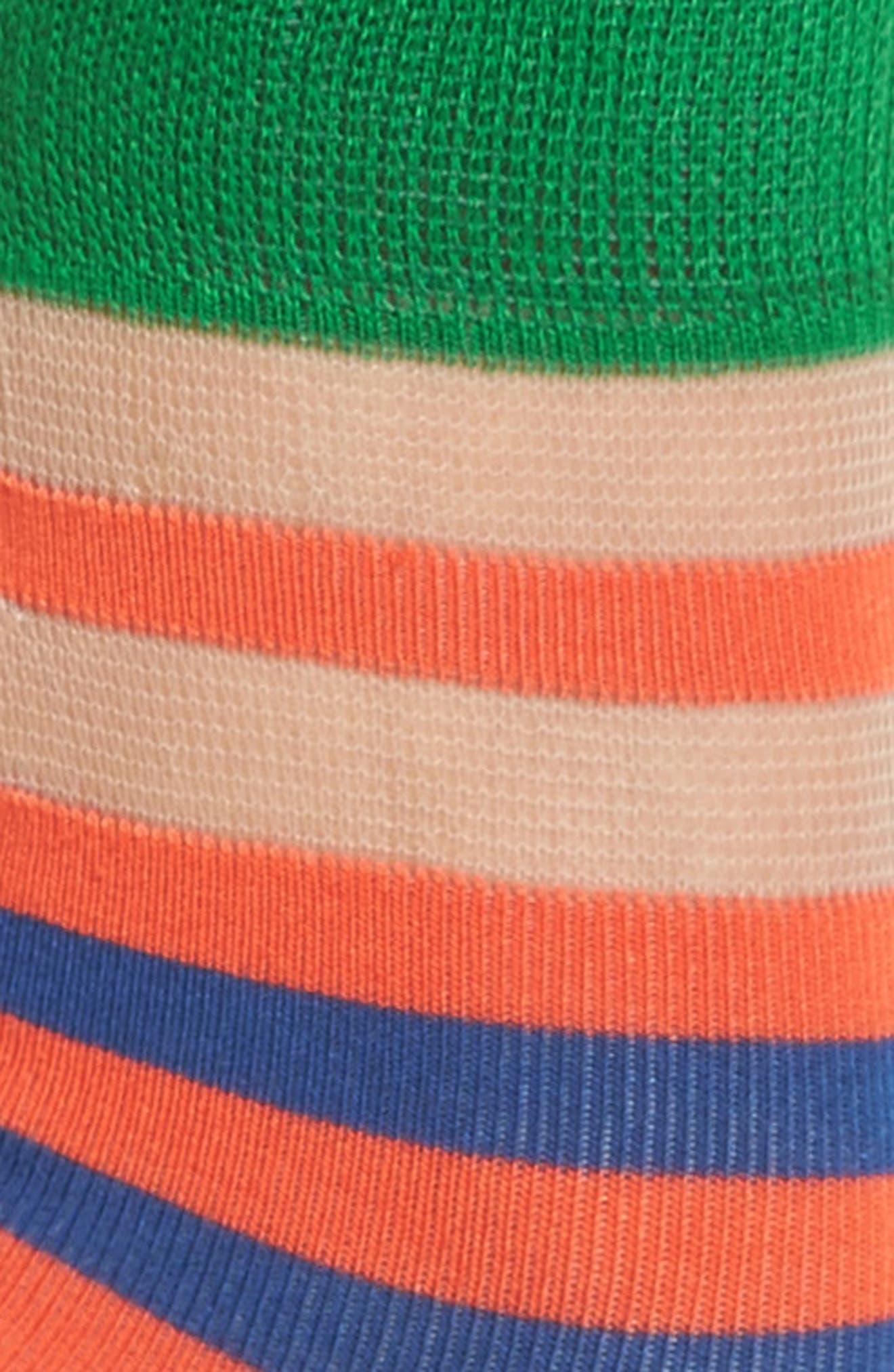 Verna Stripe Ankle Socks,                             Alternate thumbnail 2, color,                             610