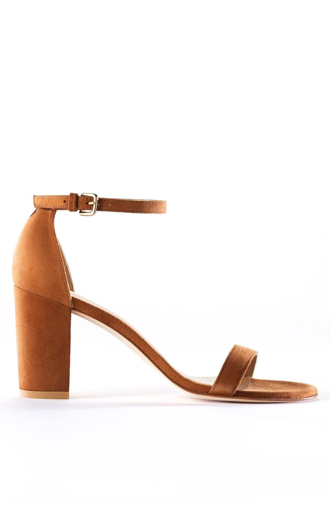 Simple Ankle Strap Sandal,                             Alternate thumbnail 10, color,                             BLACK SUEDE