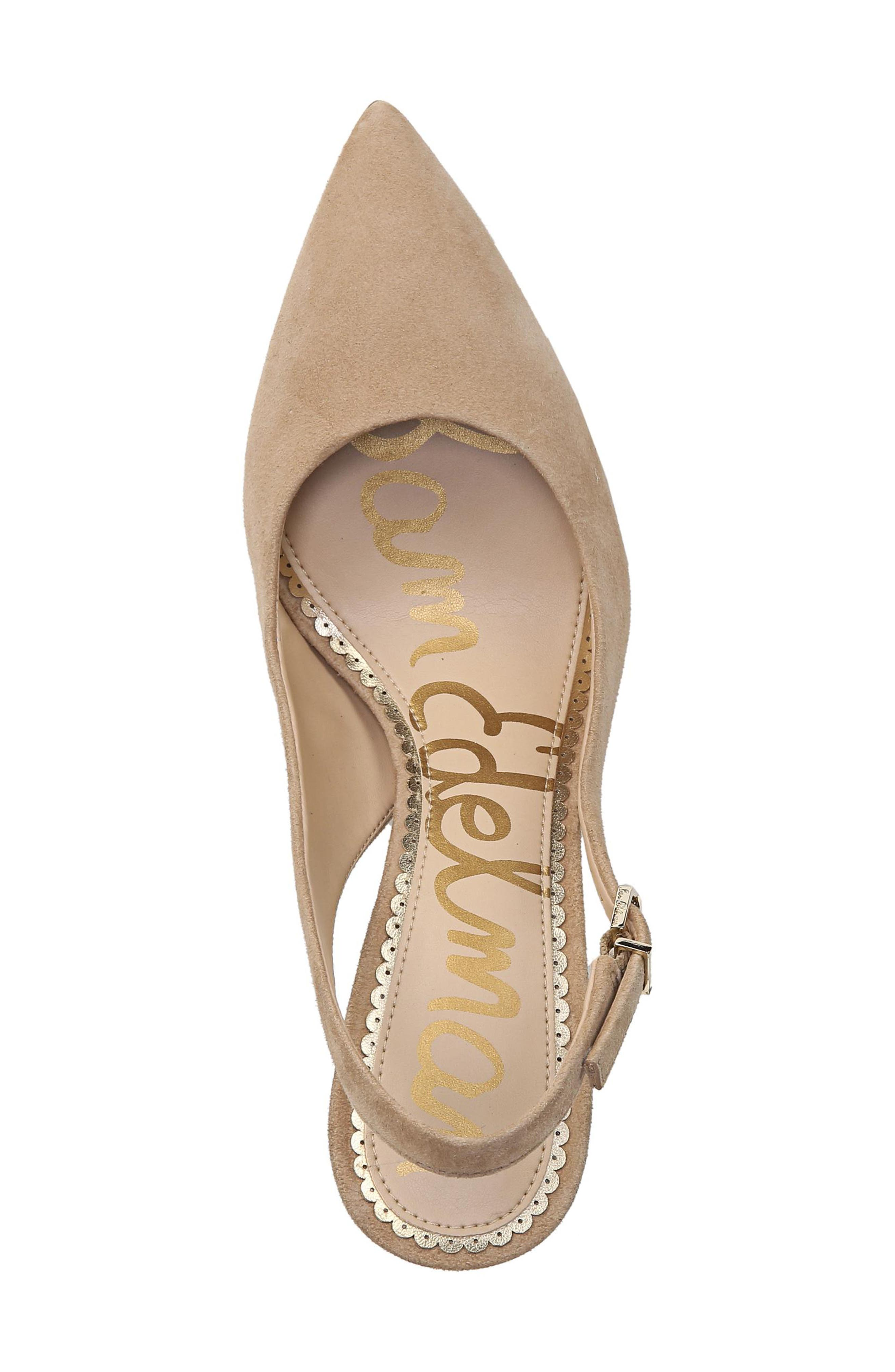 Hastings Slingback Pump,                             Alternate thumbnail 5, color,                             OATMEAL SUEDE LEATHER