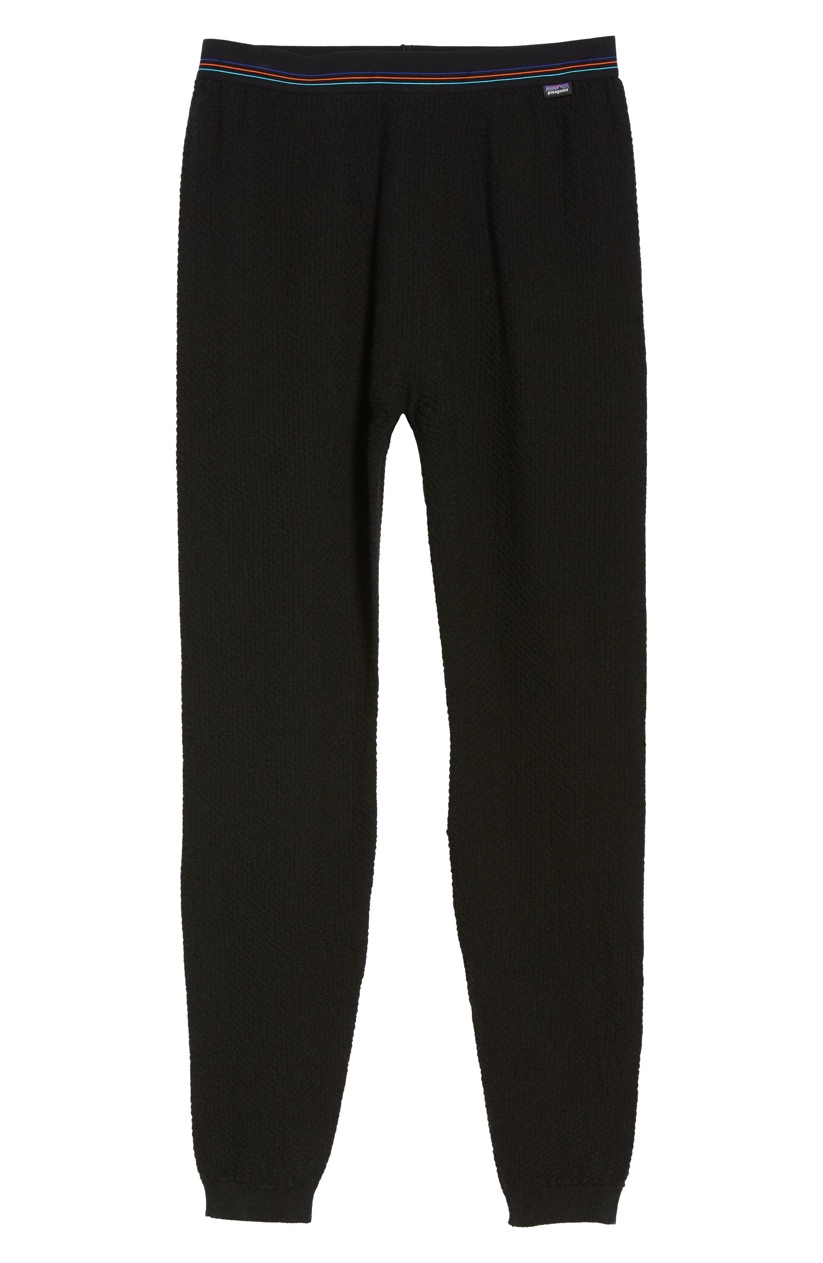 Capilene<sup>®</sup> Thermal Weight Base Layer Pants,                             Alternate thumbnail 6, color,                             BLACK
