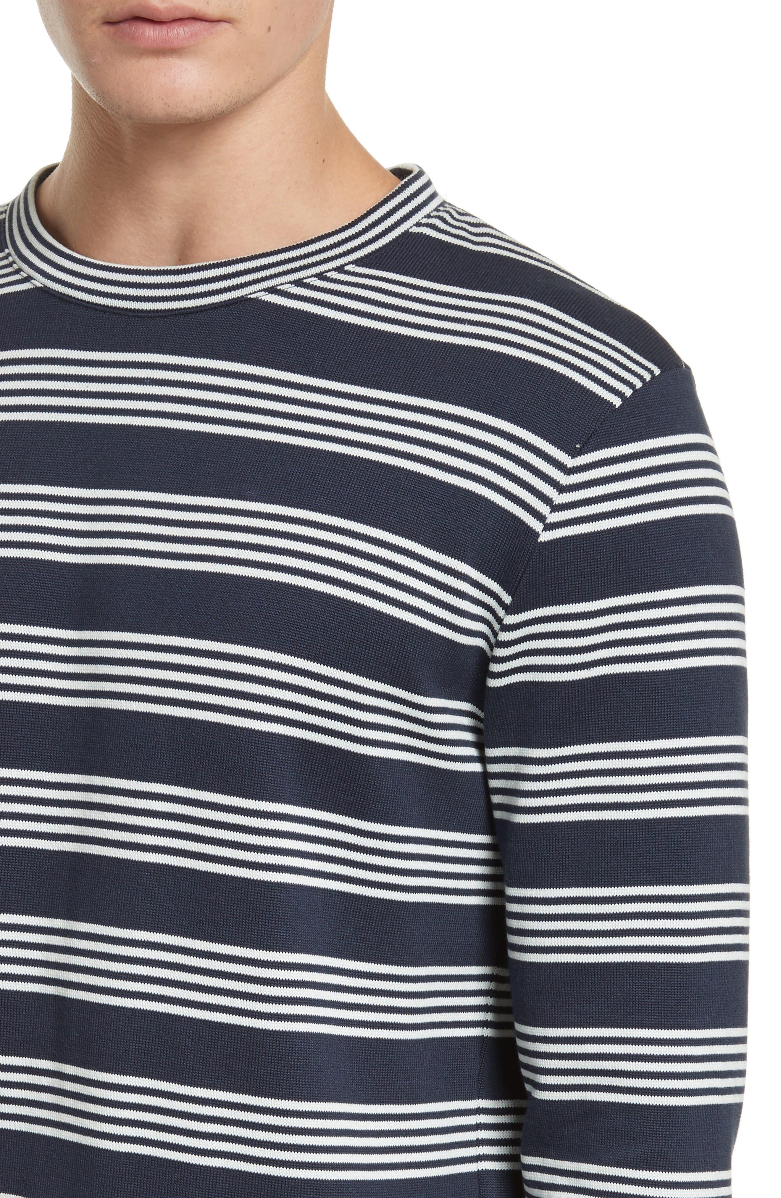 Stripe Sweat Jeremie Sweater,                             Alternate thumbnail 4, color,                             410