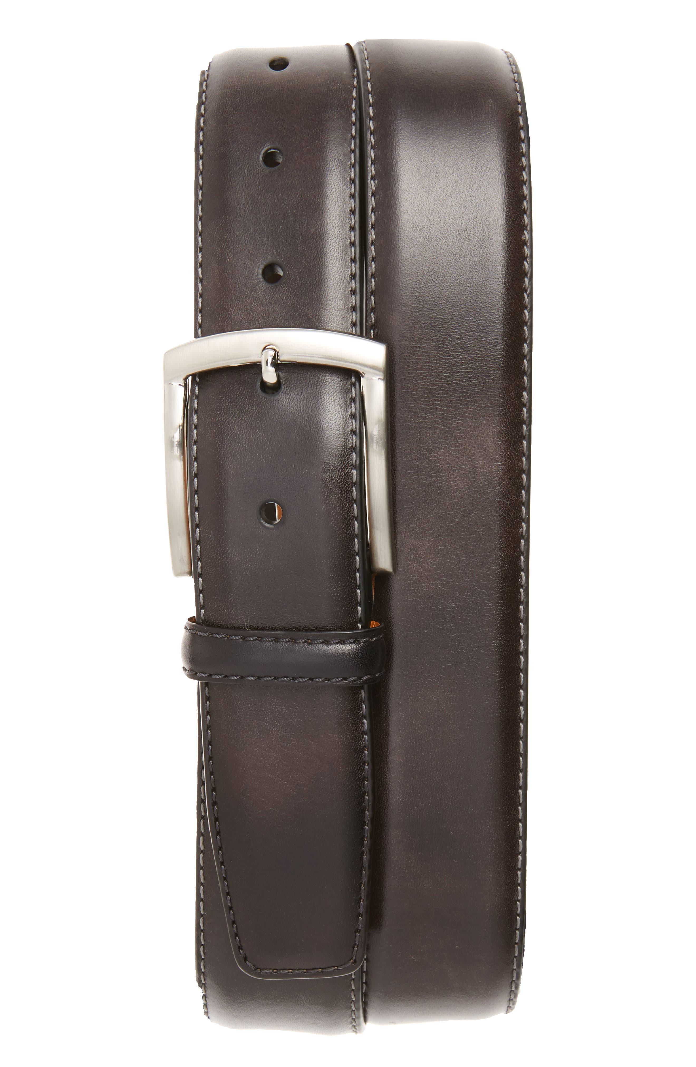 Magnanni Tanning Leather Belt, Grey