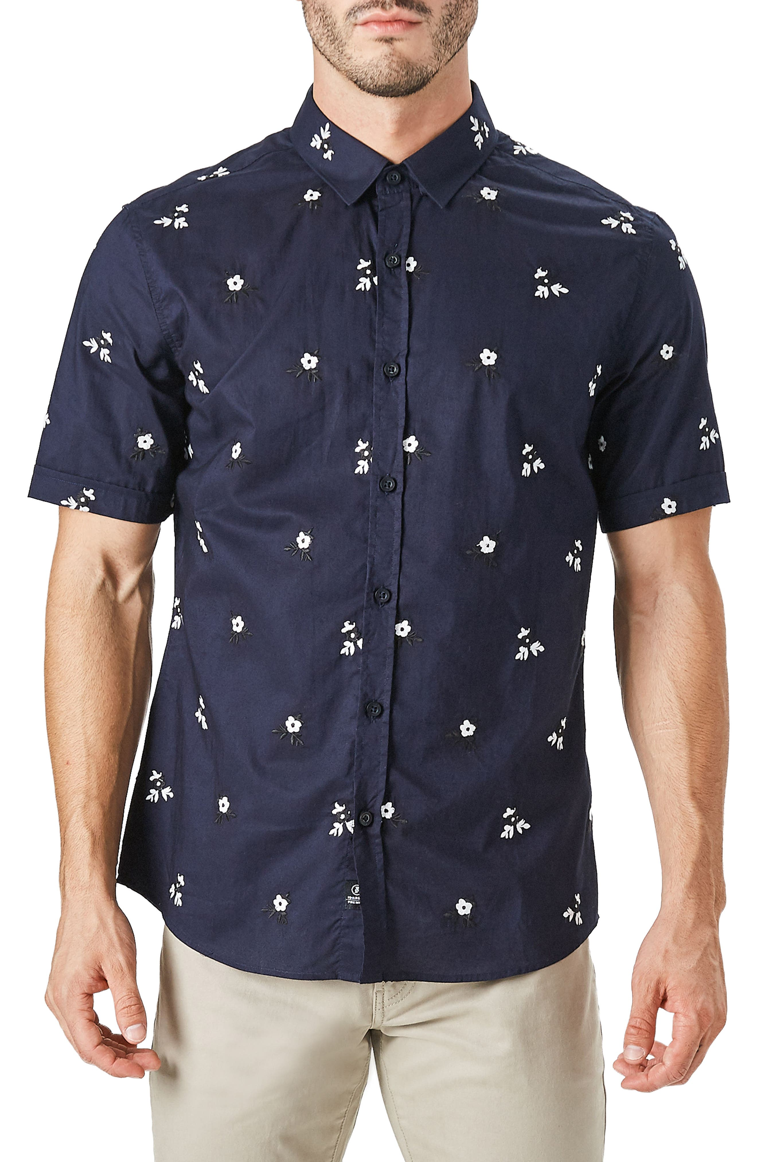 Isolator Woven Shirt,                             Main thumbnail 1, color,                             NAVY