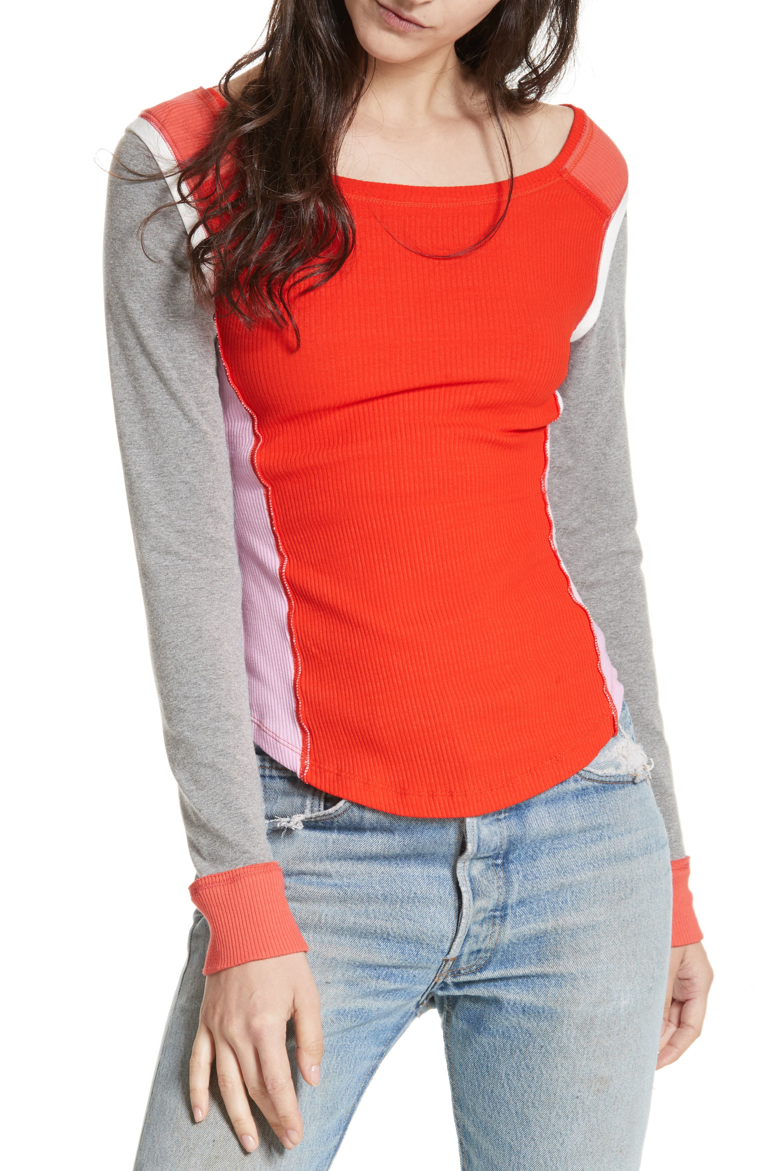 Fancy That Colorblock Tee,                             Main thumbnail 2, color,
