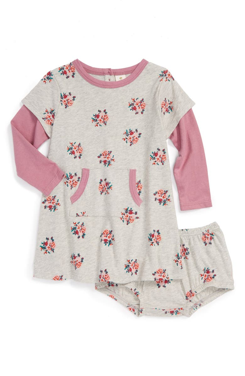 a50caf614 Tucker + Tate Floral Print Knit Dress   Bloomers (Baby Girls ...