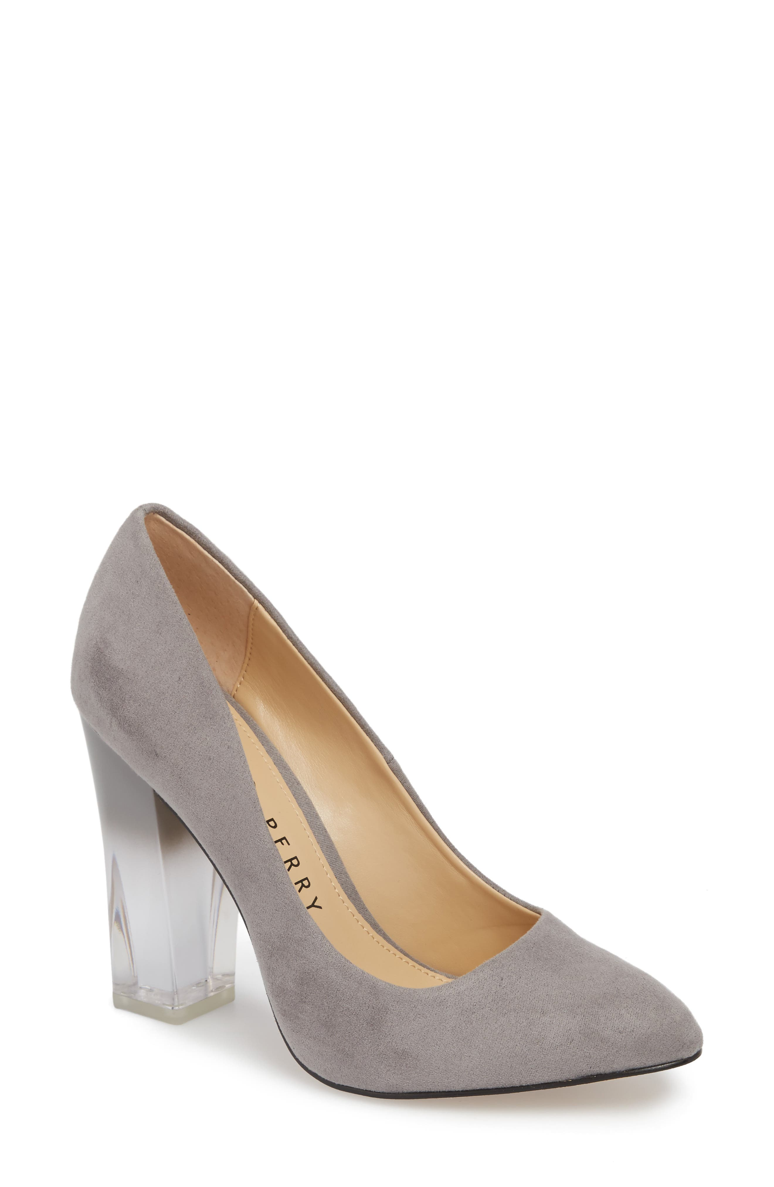 Statement Heel Pump,                             Main thumbnail 1, color,                             DARK NICKEL