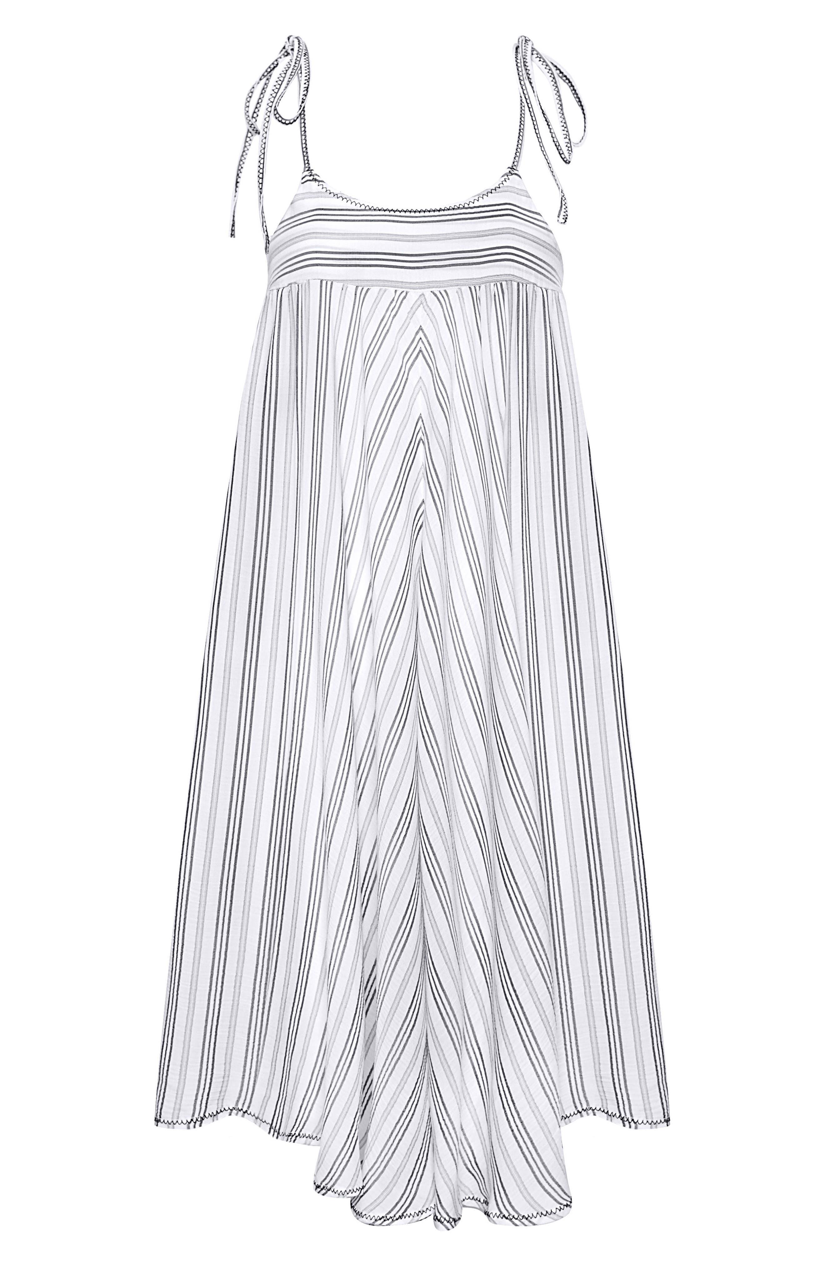 Norah Stripe Cover-Up Dress,                             Alternate thumbnail 3, color,                             023