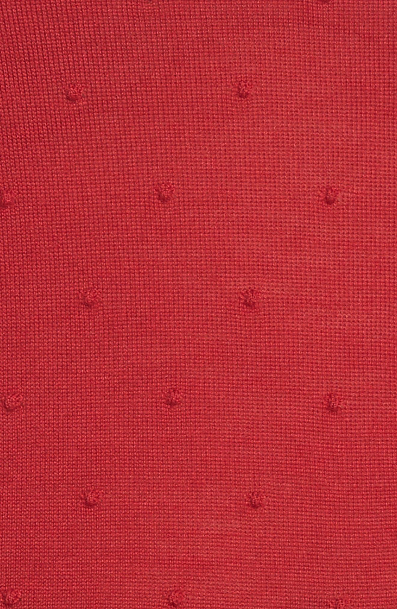 Fineen Wool Dot Jacquard Sweater,                             Alternate thumbnail 5, color,                             619