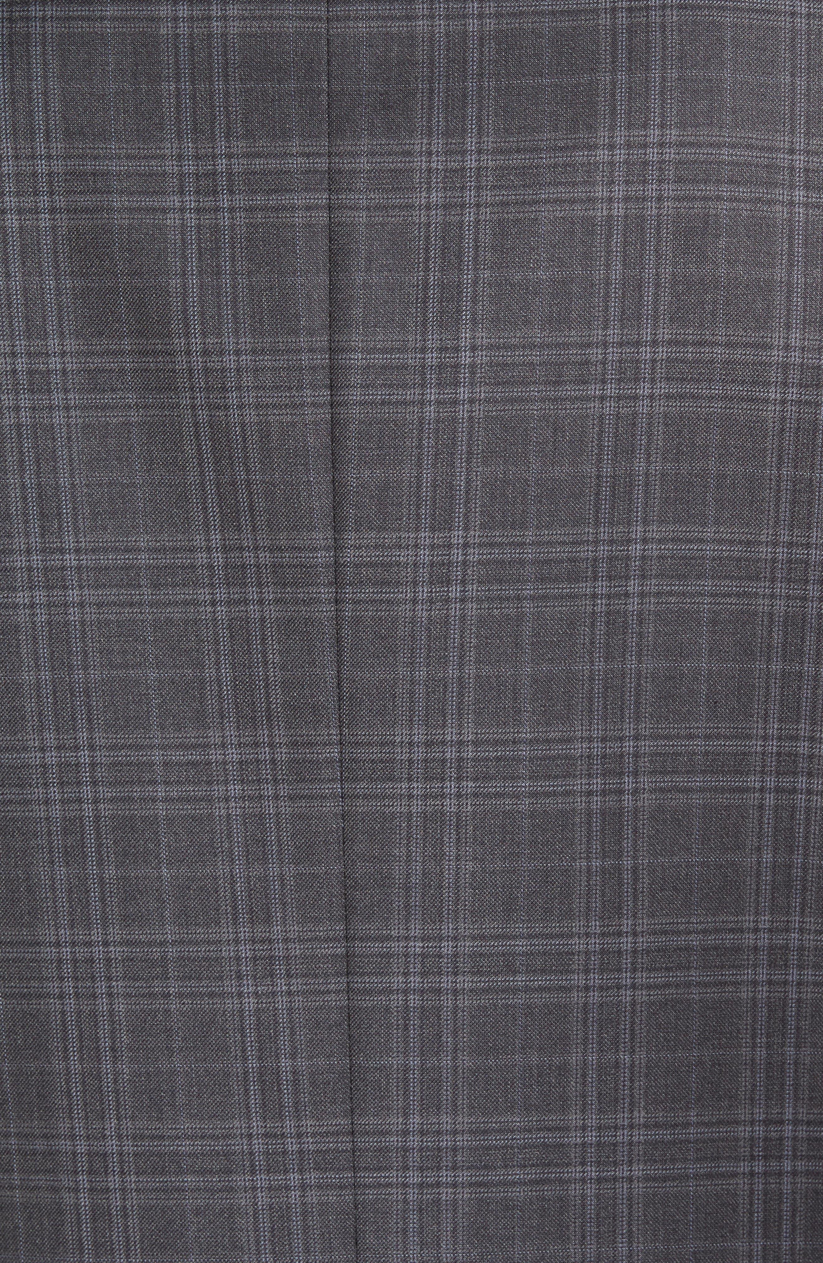 Flynn Classic Fit Plaid Wool Sport Coat,                             Alternate thumbnail 6, color,                             020